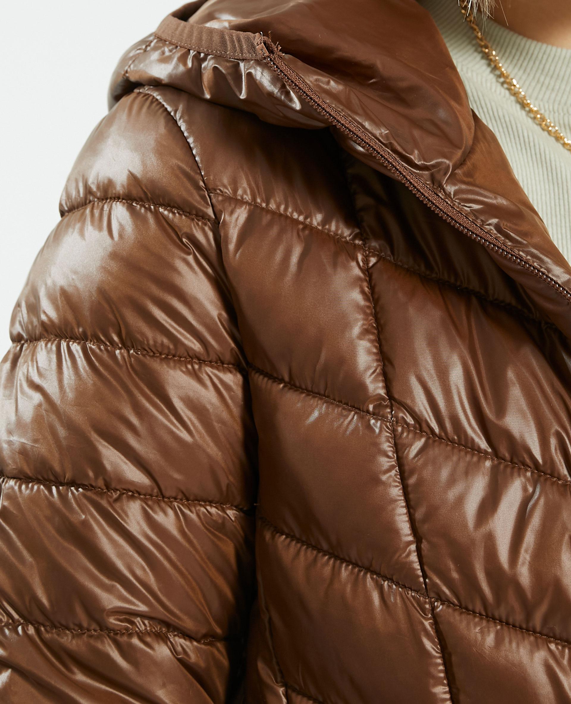 Doudoune déperlante à capuche caramel - Pimkie