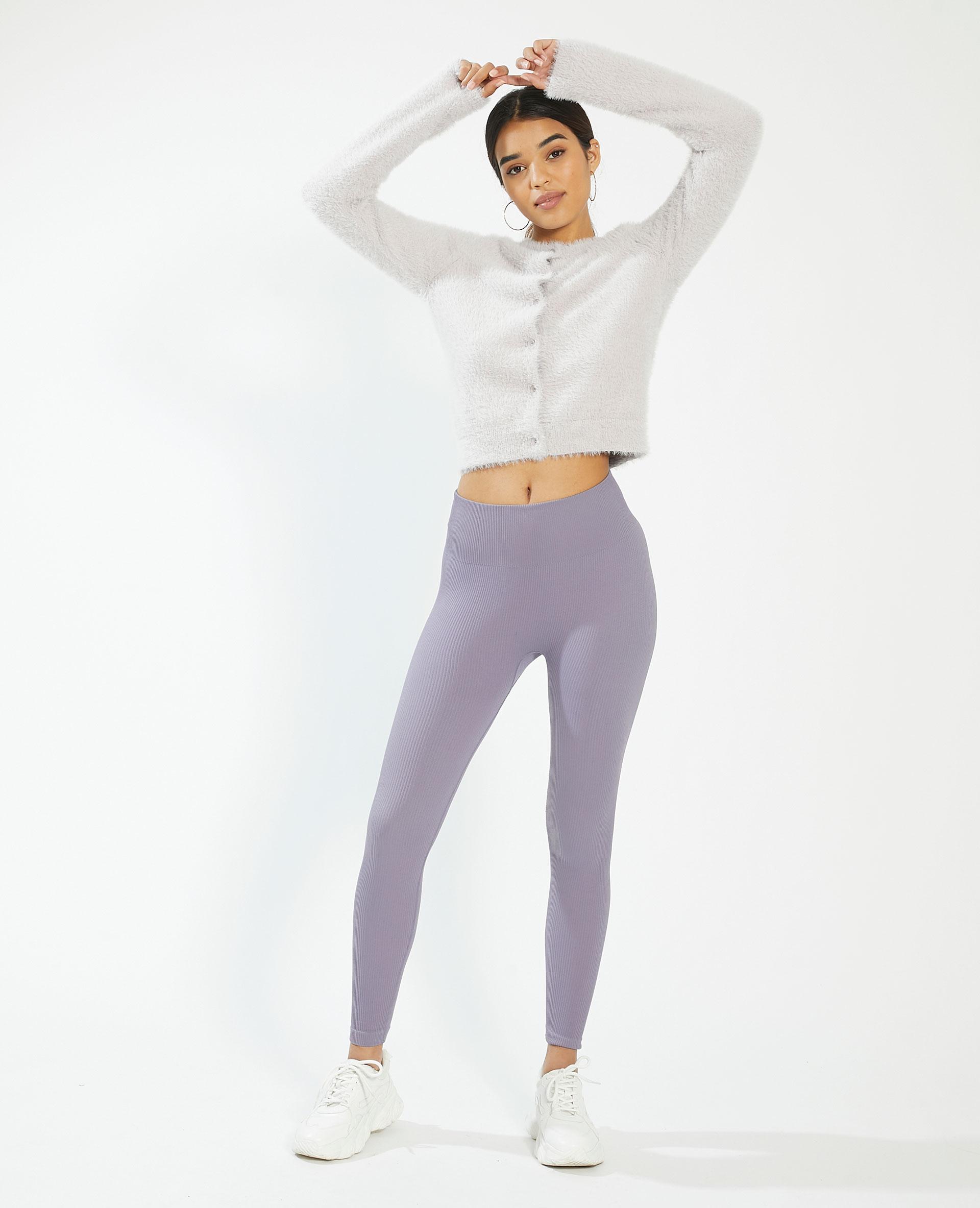 Gilet tout doux boutonné violet - Pimkie
