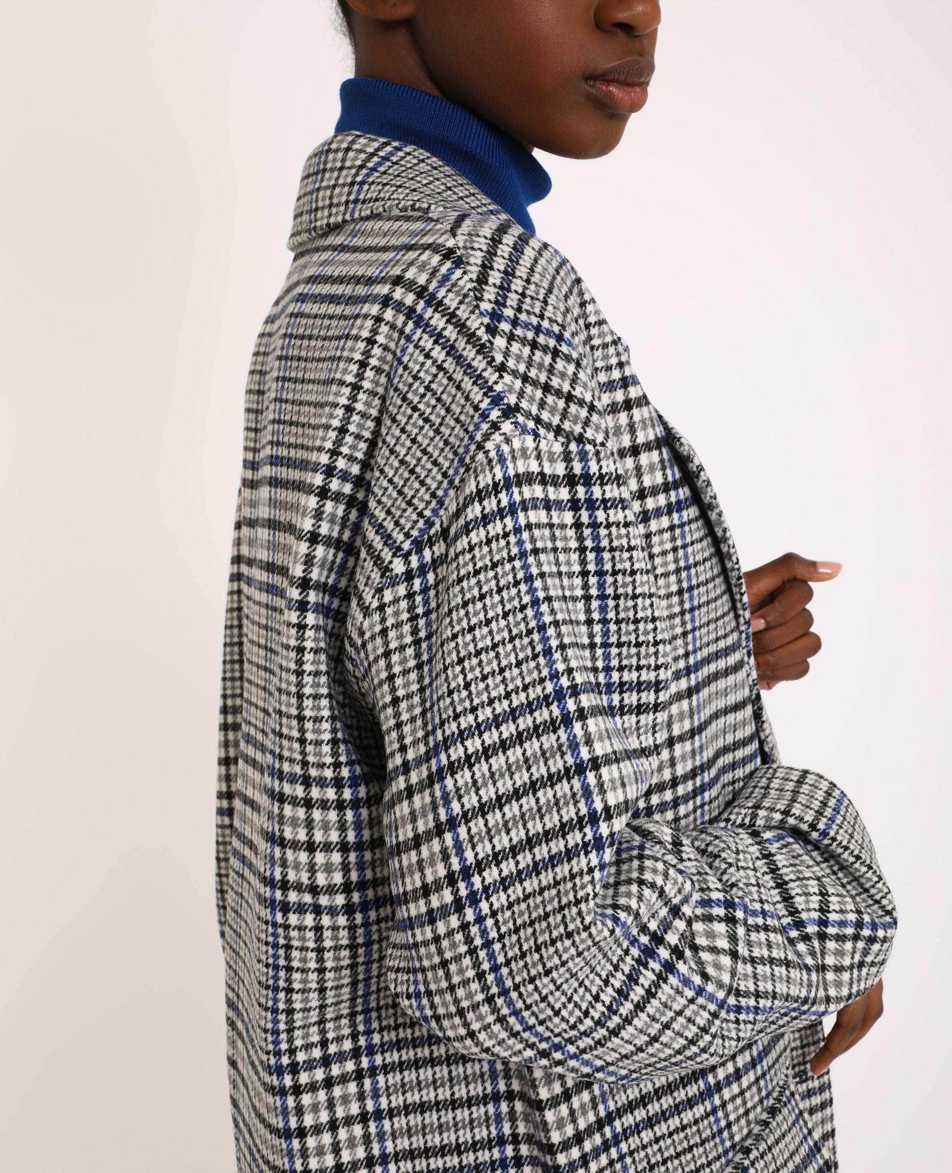 Manteau long droit gris - Pimkie