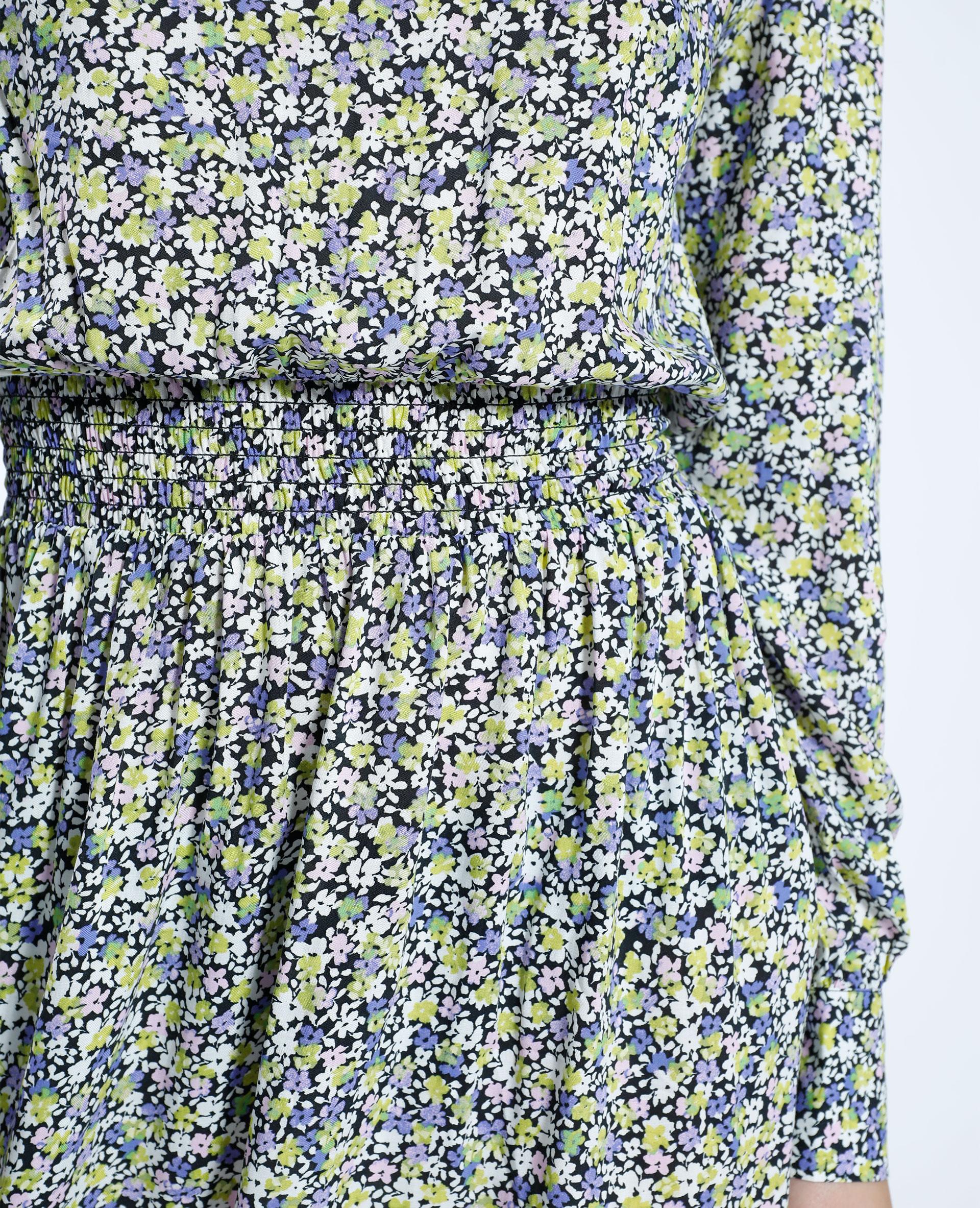 Robe courte fleurie vert - Pimkie