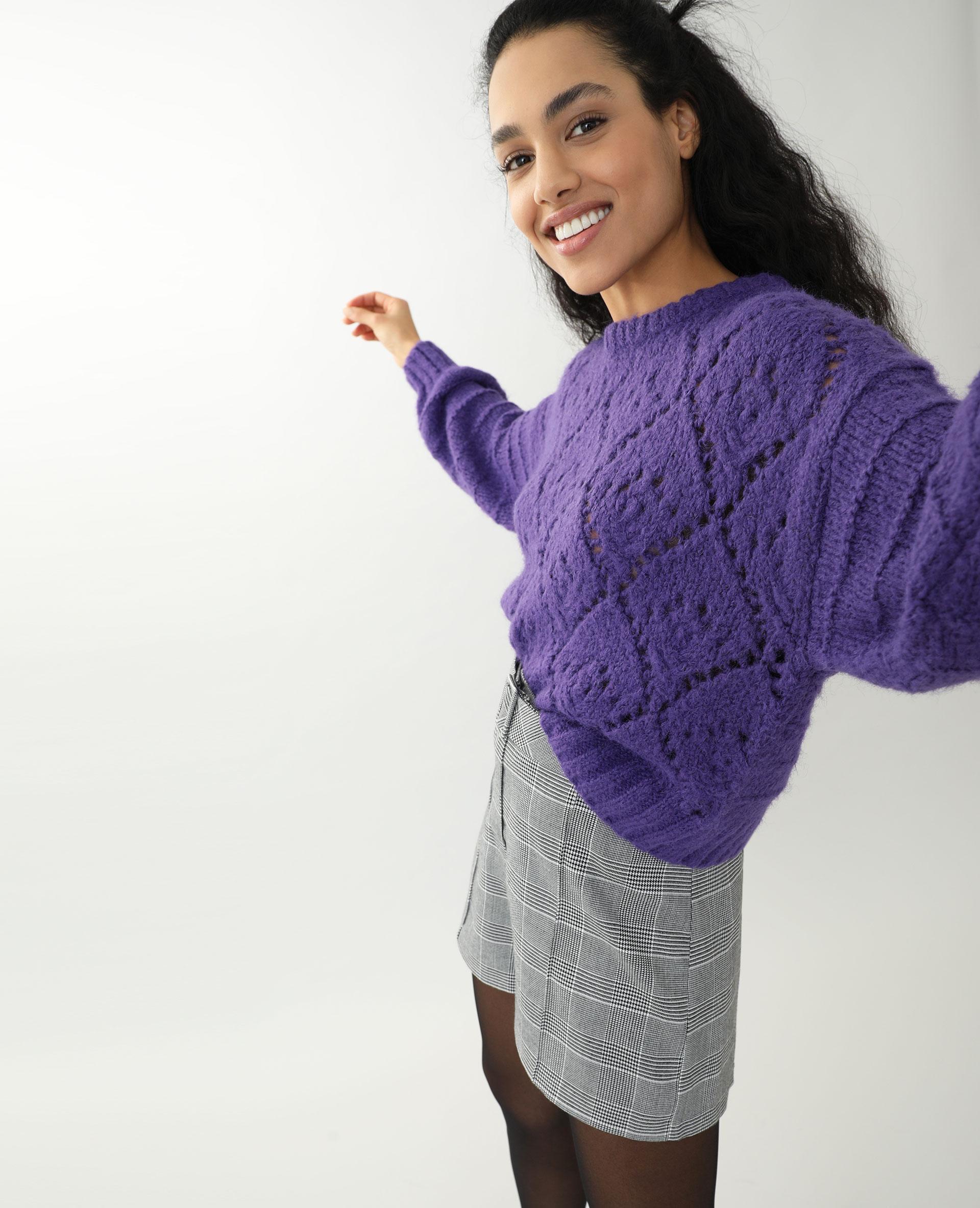 Pull ajouré violet - Pimkie
