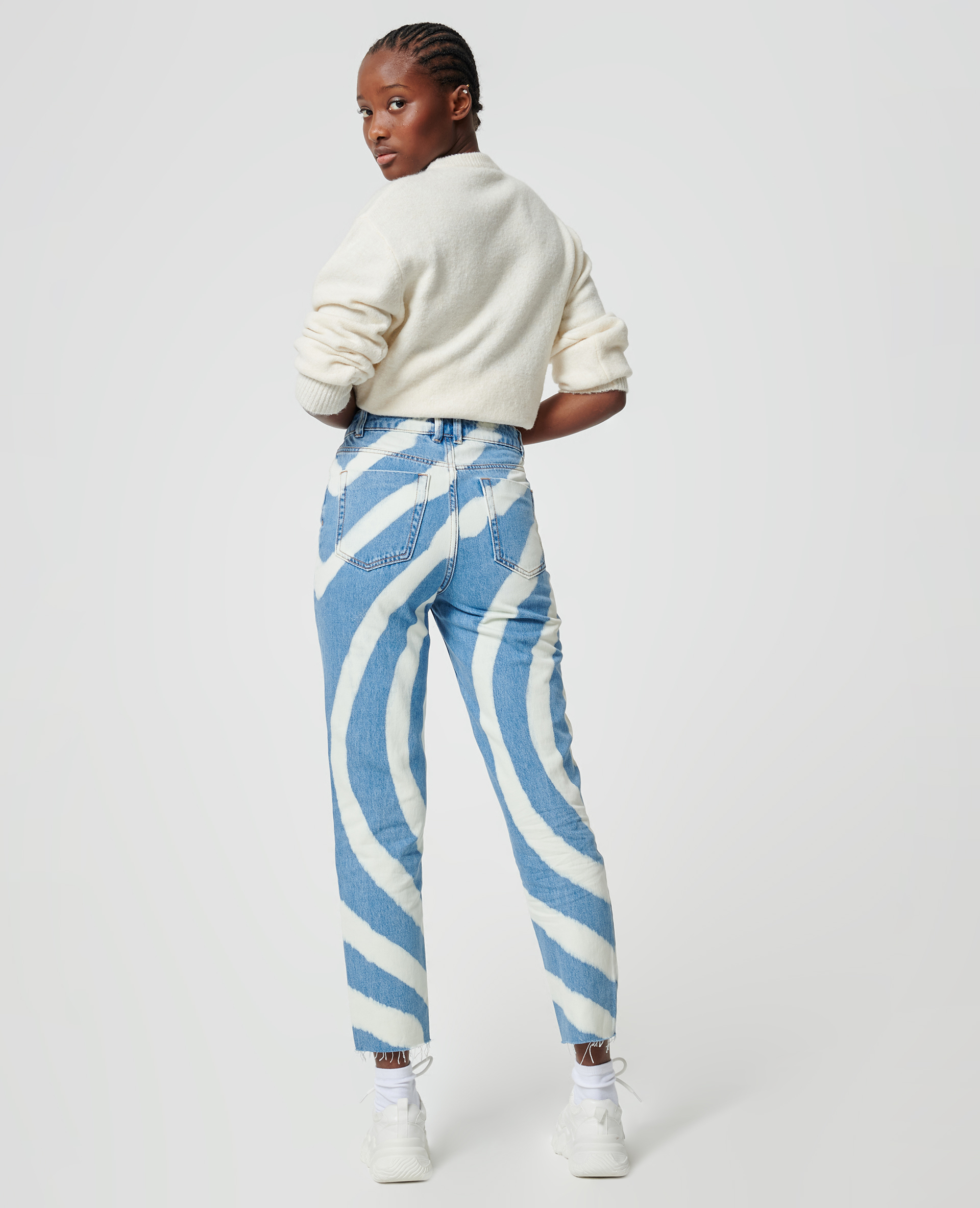 Jean spirale bleu denim - Pimkie