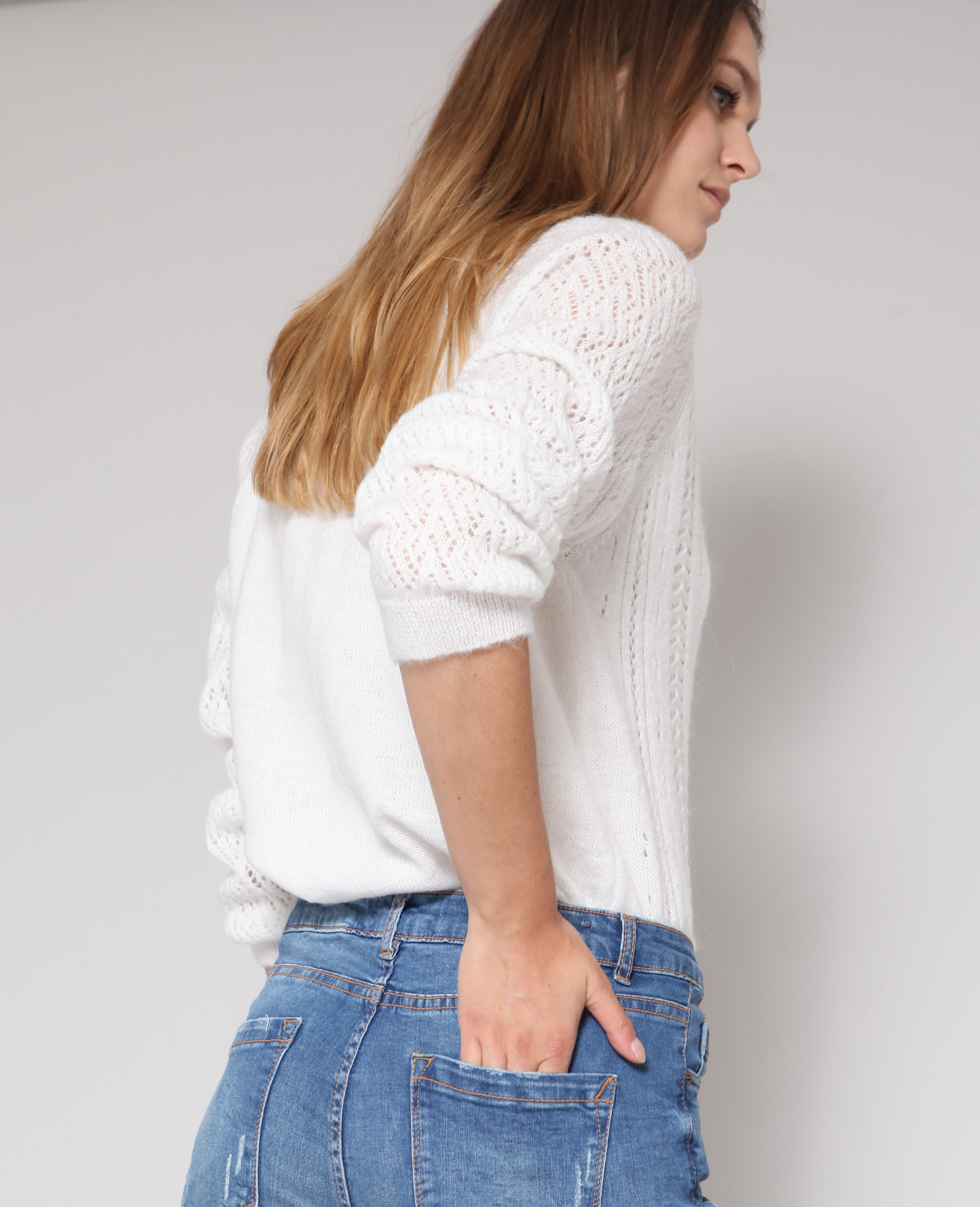 100% quality new lifestyle where to buy Gilet ajouré blanc - 407065918A0A | Pimkie