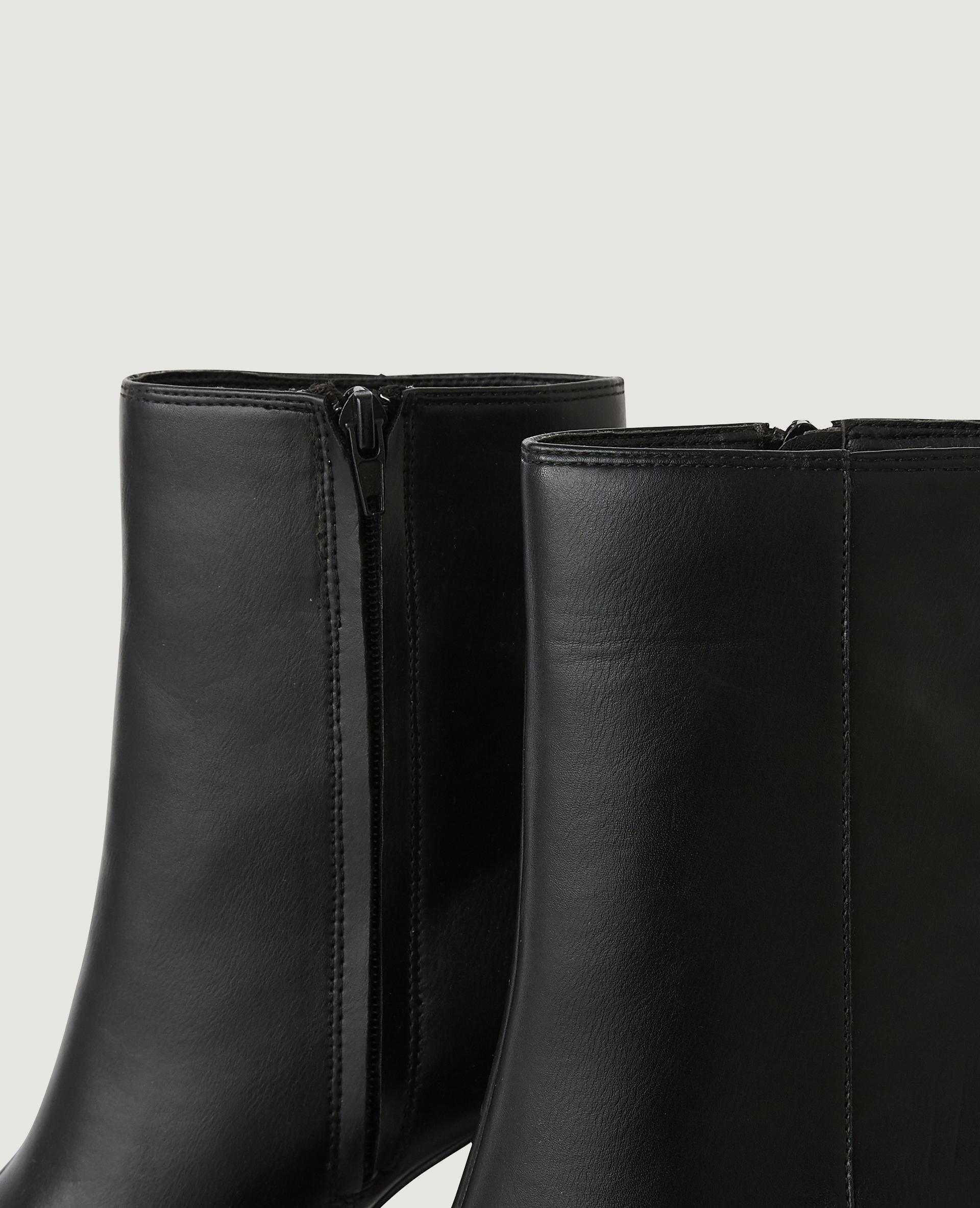 Bottines simili cuir à talon noir - Pimkie
