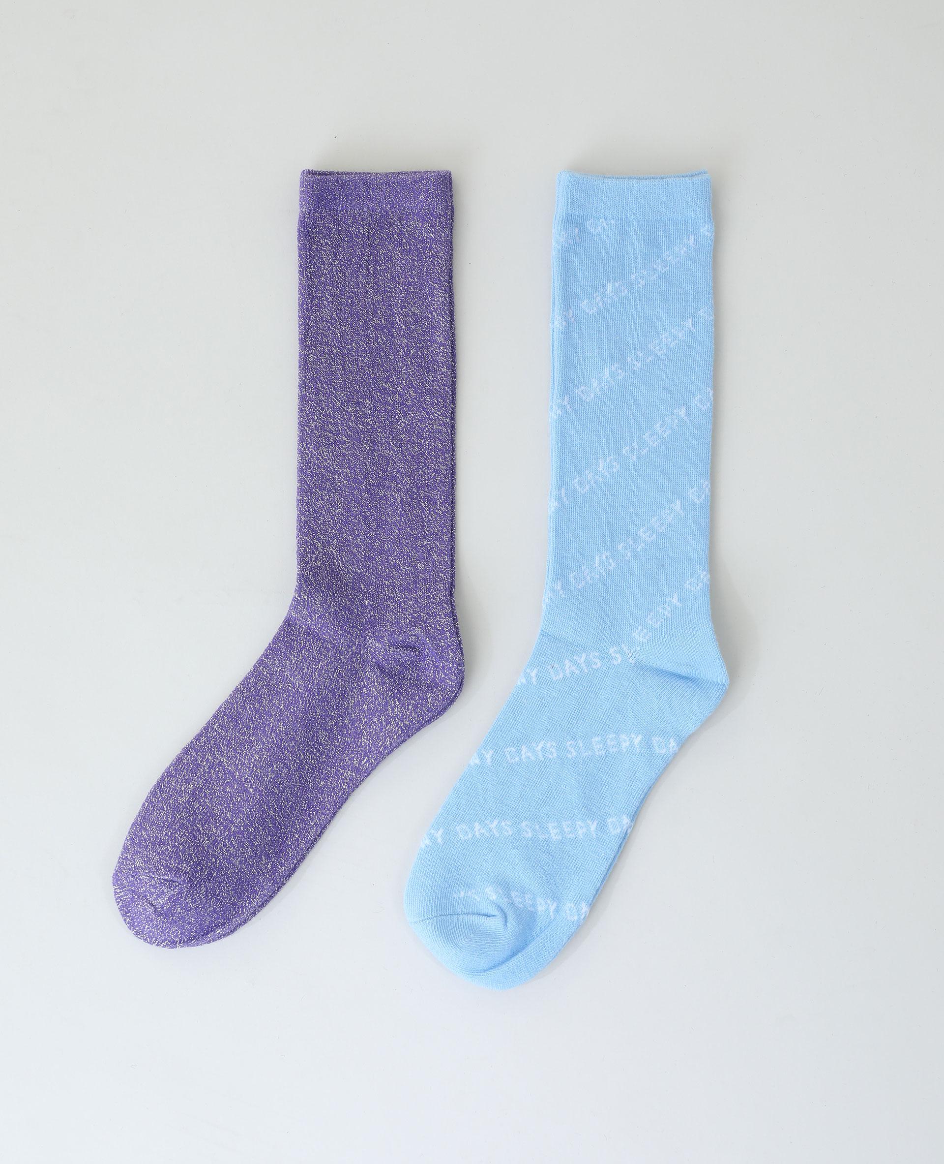 Lot de 2 paires de chaussettes violet - Pimkie