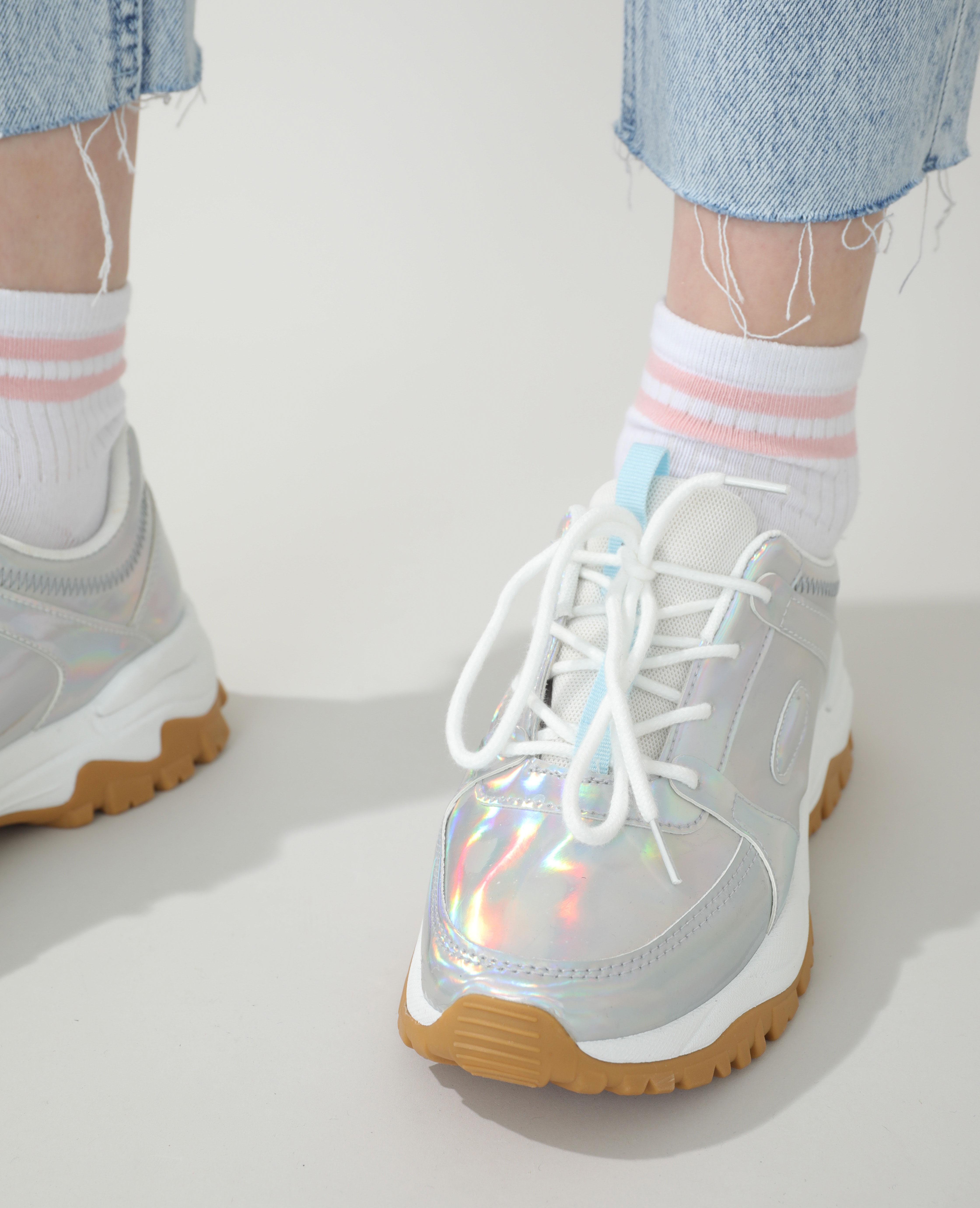 Baskets Dad shoes gris - Pimkie