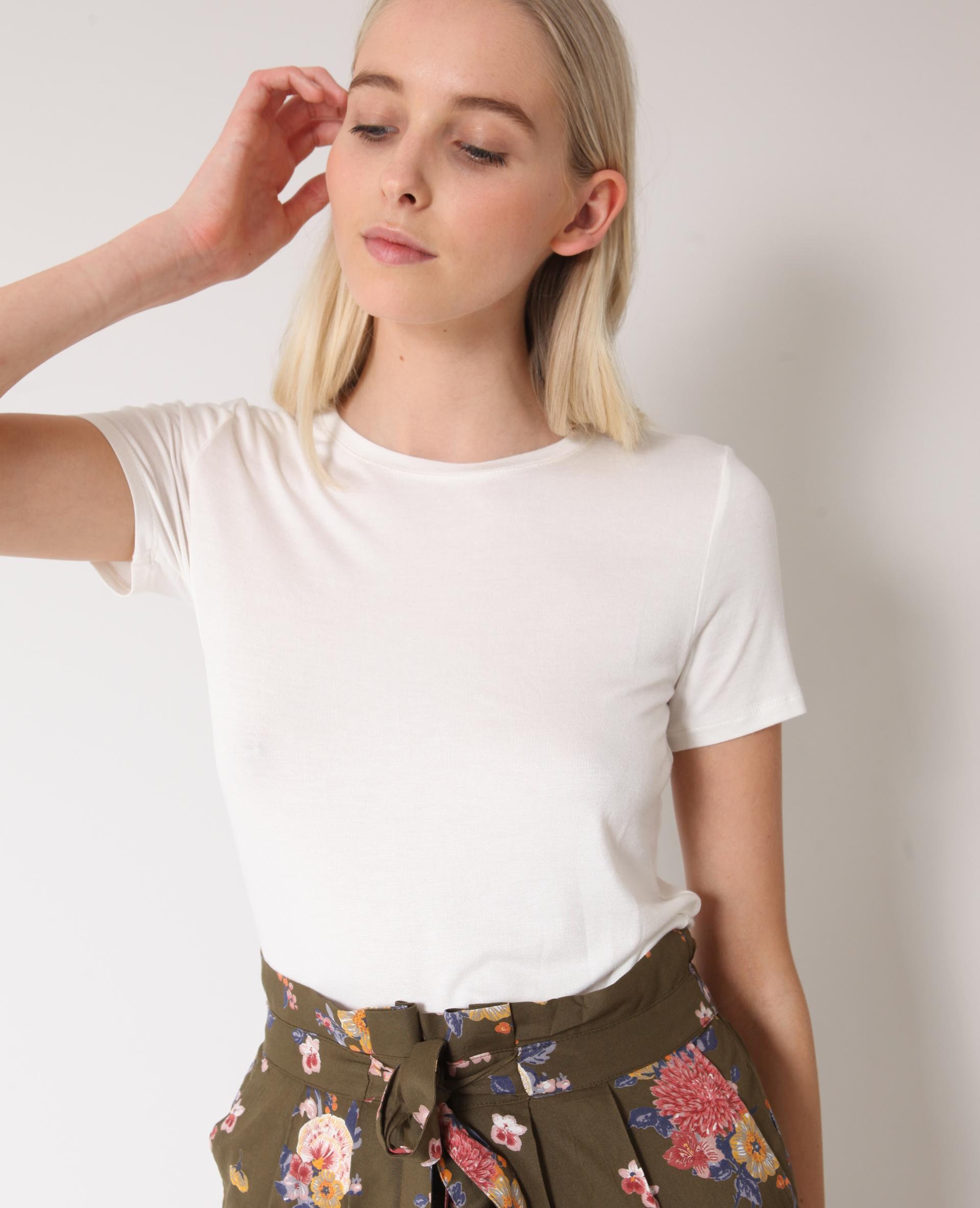 T-shirt à manches courtes blanc cassé - Pimkie