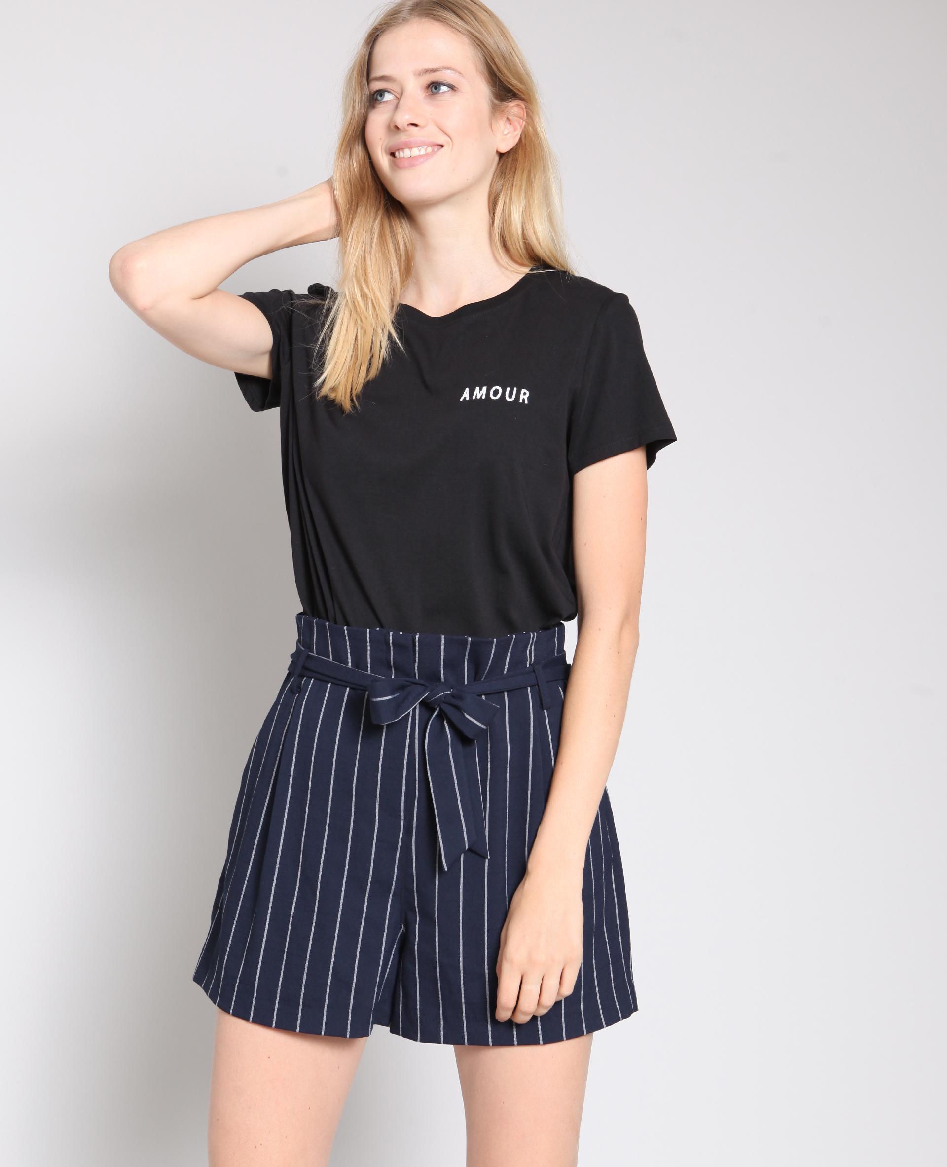 T-shirt amour noir - Pimkie