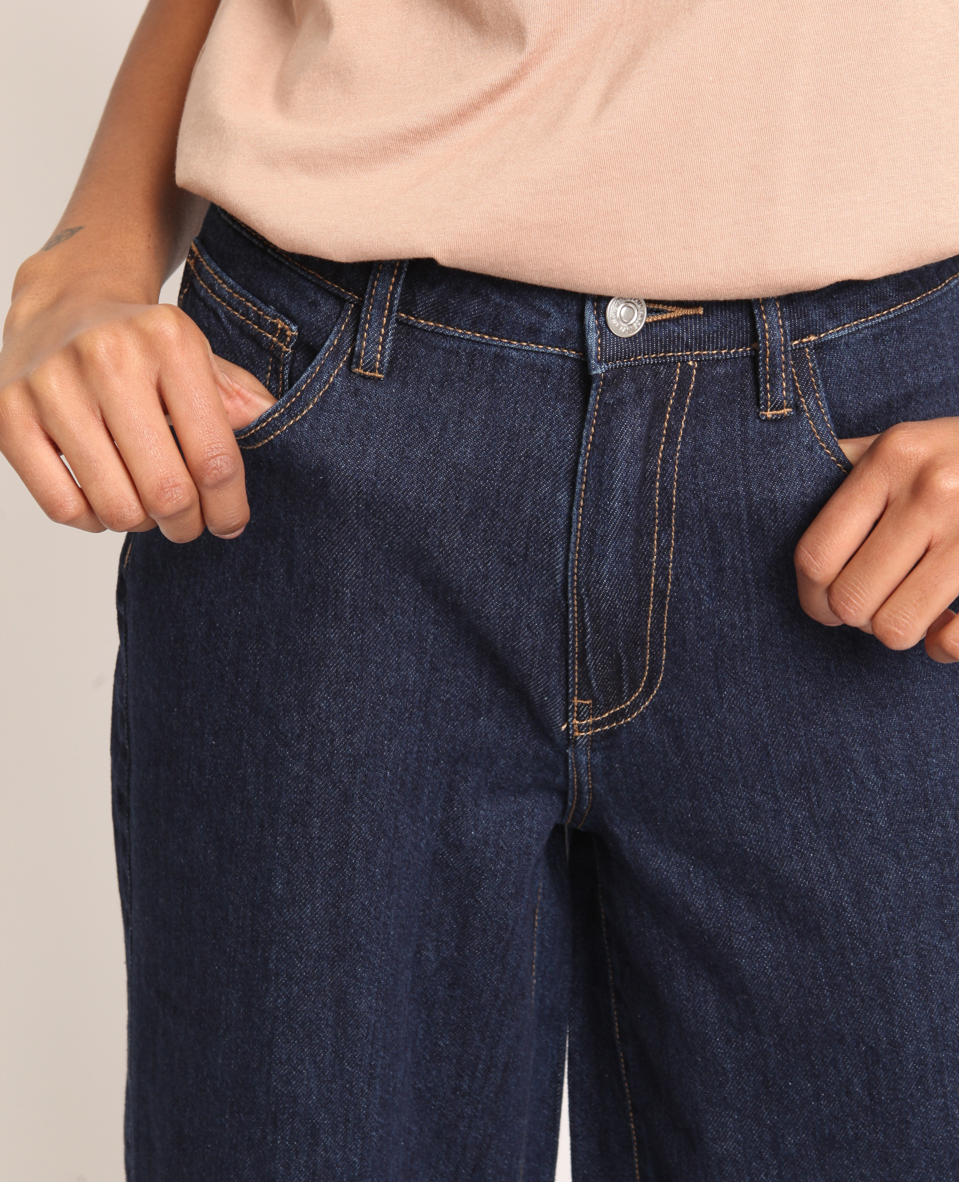 Jean wide leg bleu foncé - Pimkie