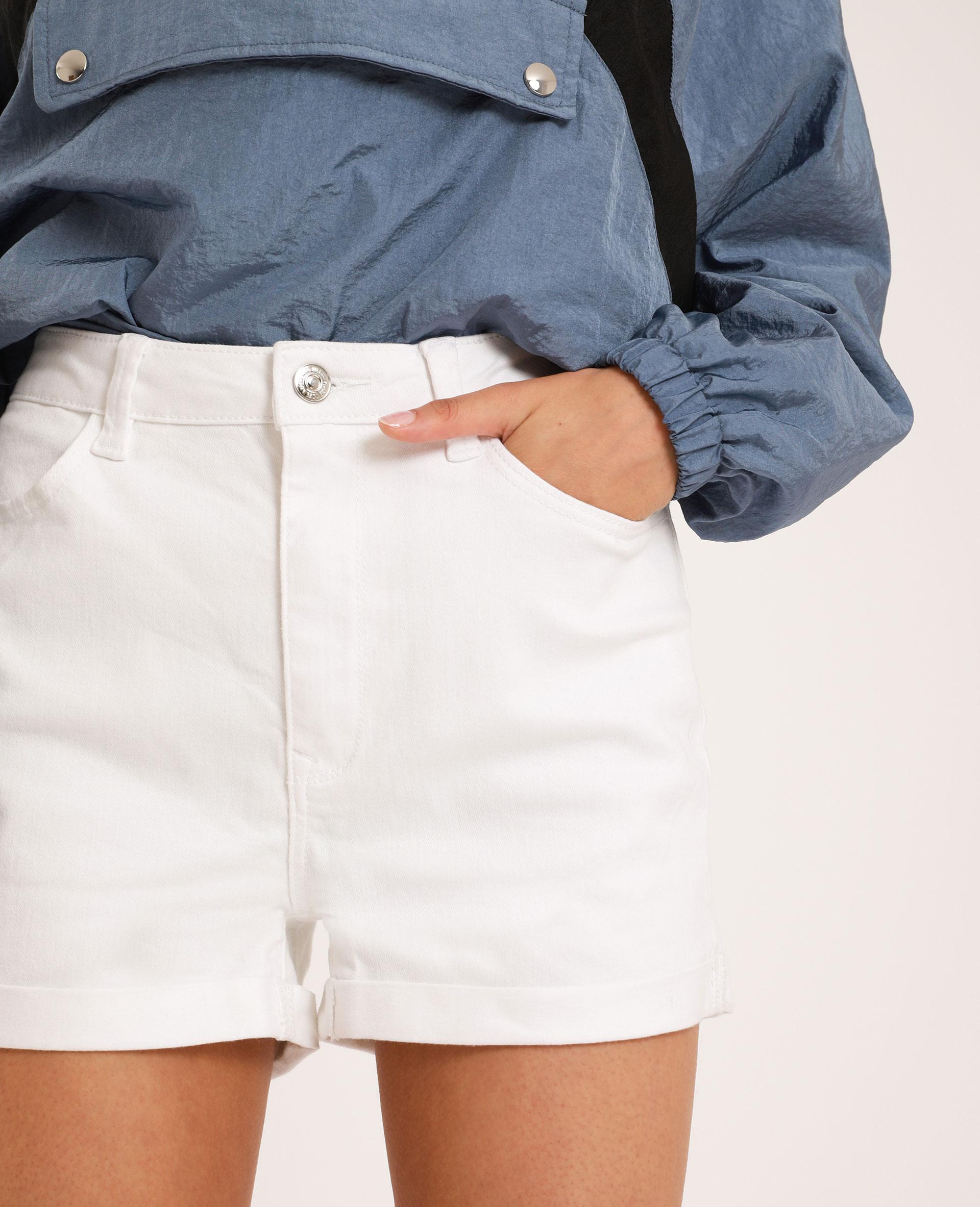 Short en jean high waist blanc - Pimkie