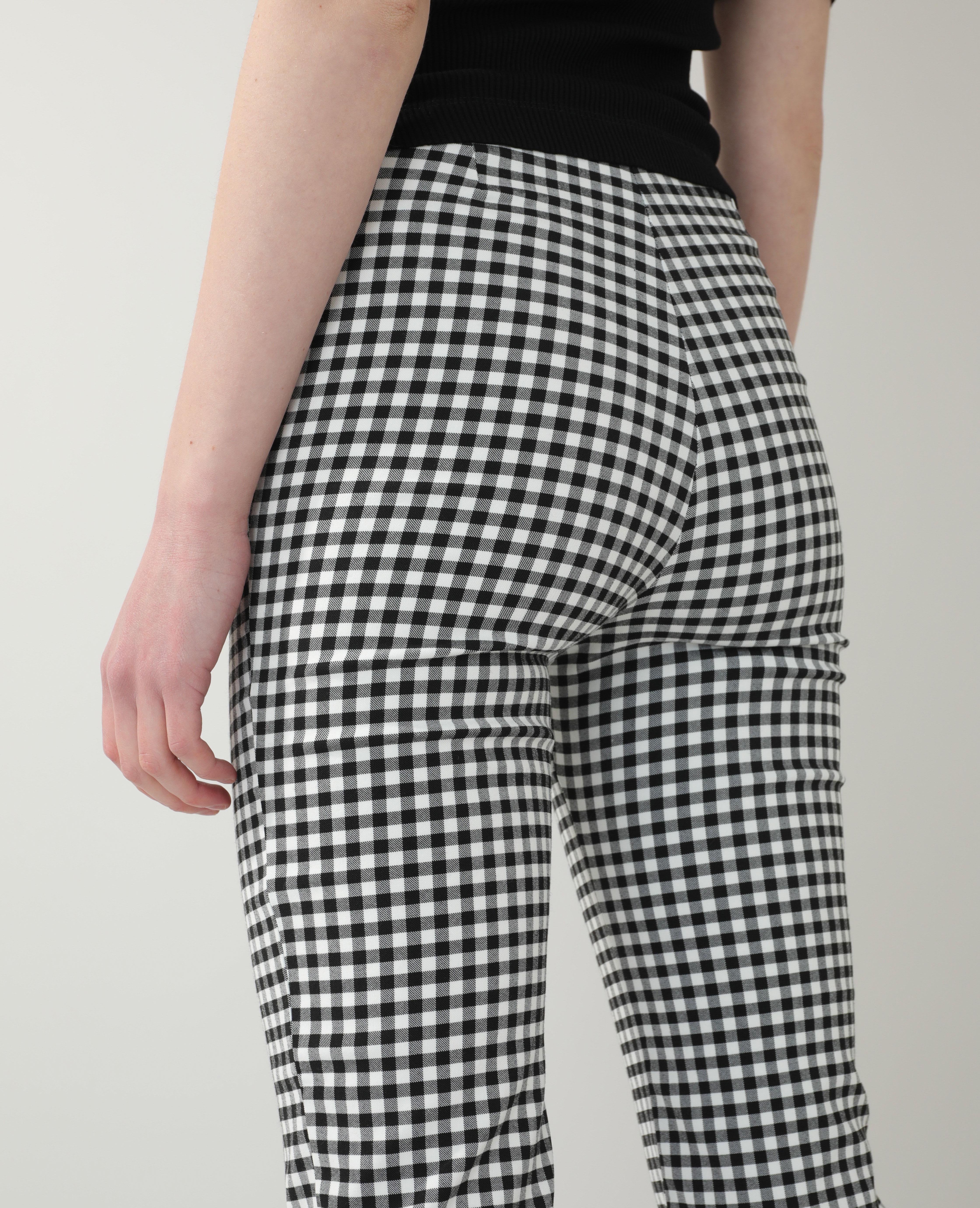 Pantalon flare Vichy noir - Pimkie