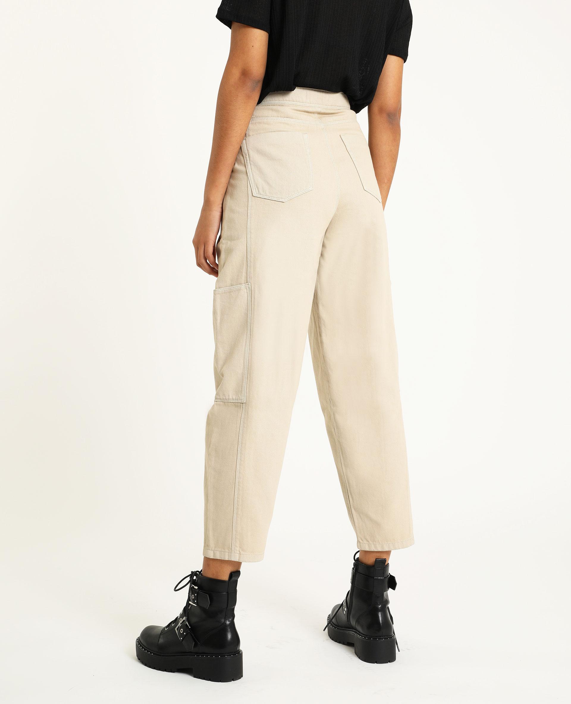 Pantalon slouchy en jean écru - Pimkie