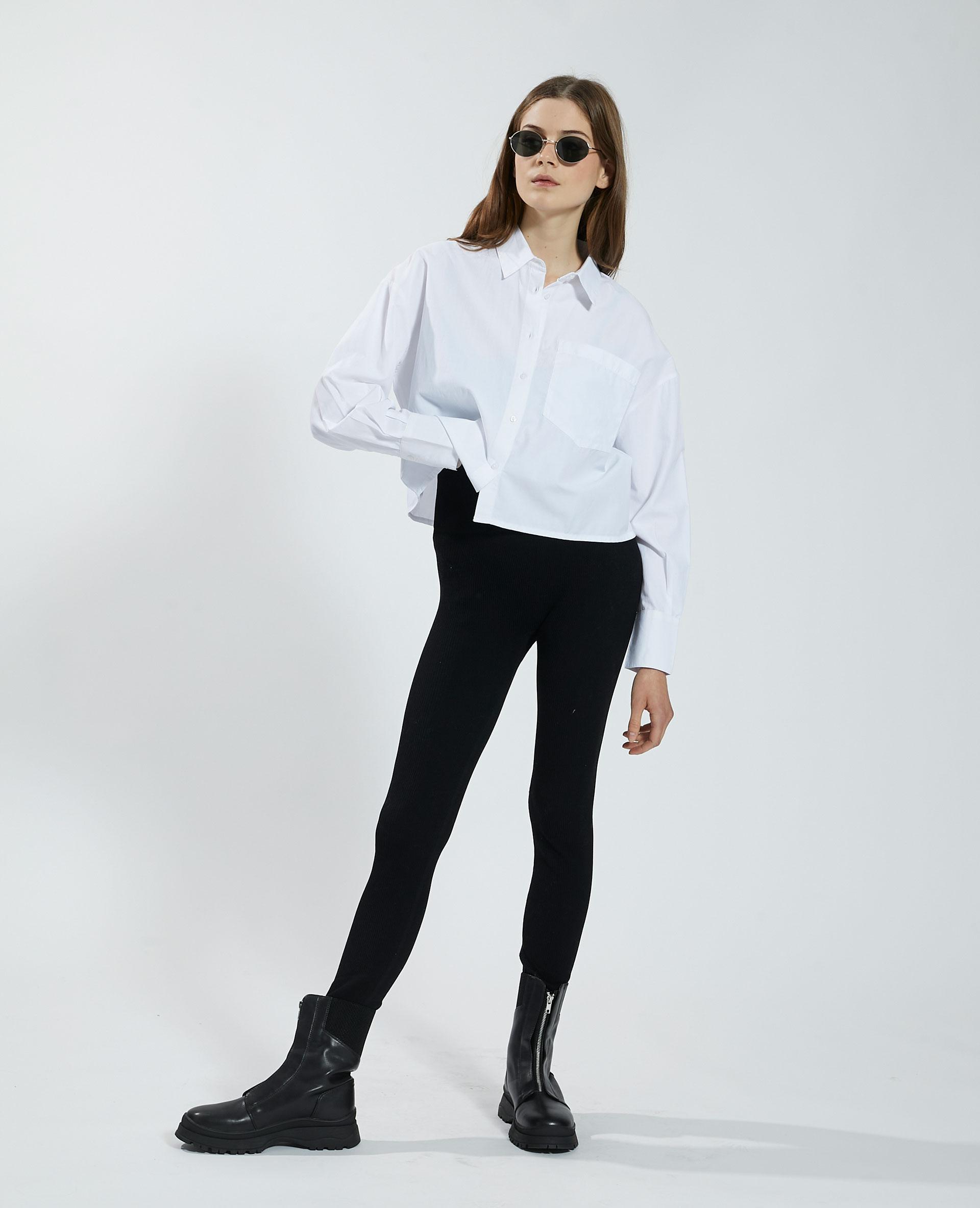 Chemise cropped blanc - Pimkie