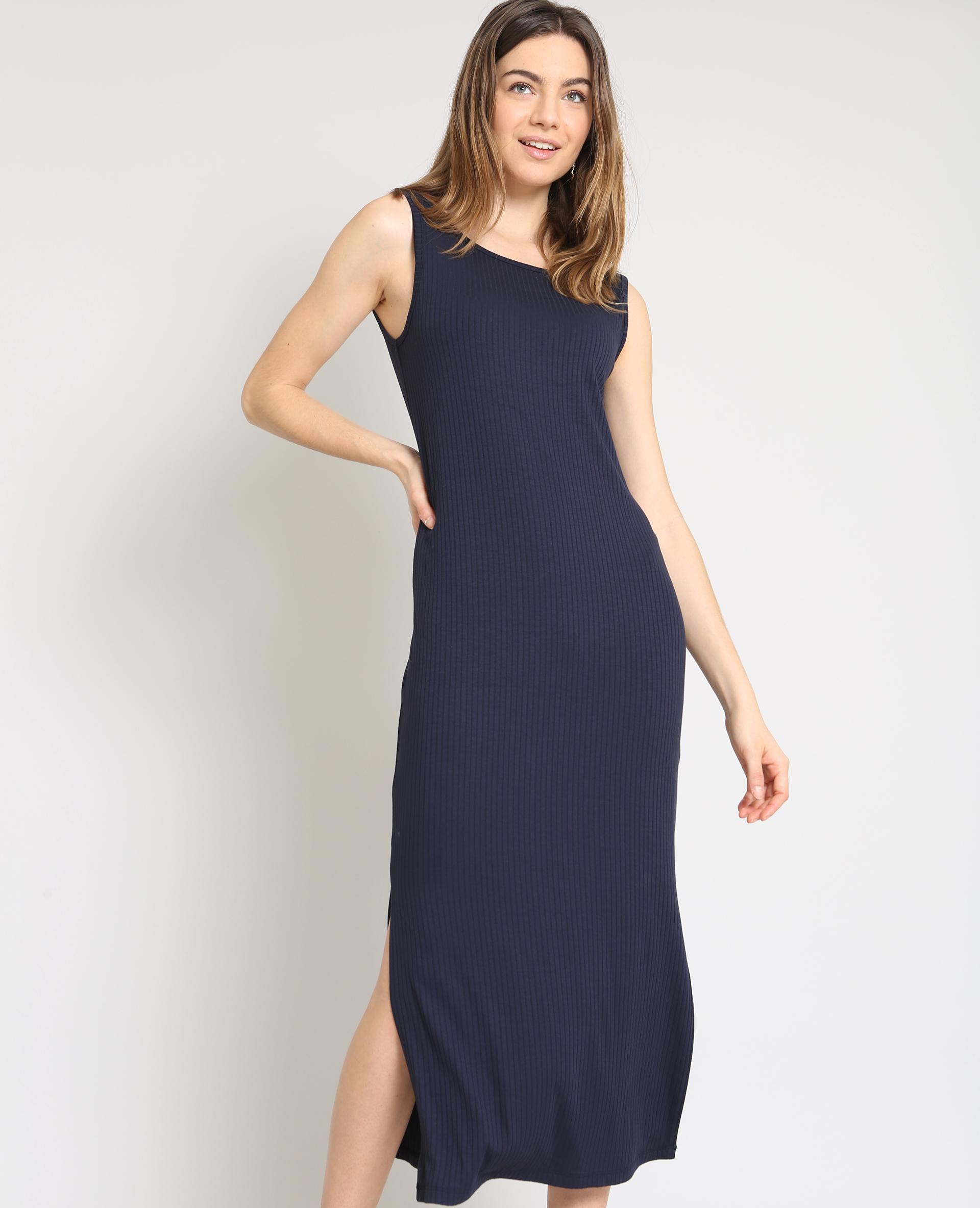robe longue moulante bleu marine 50 780885b03a06 pimkie. Black Bedroom Furniture Sets. Home Design Ideas