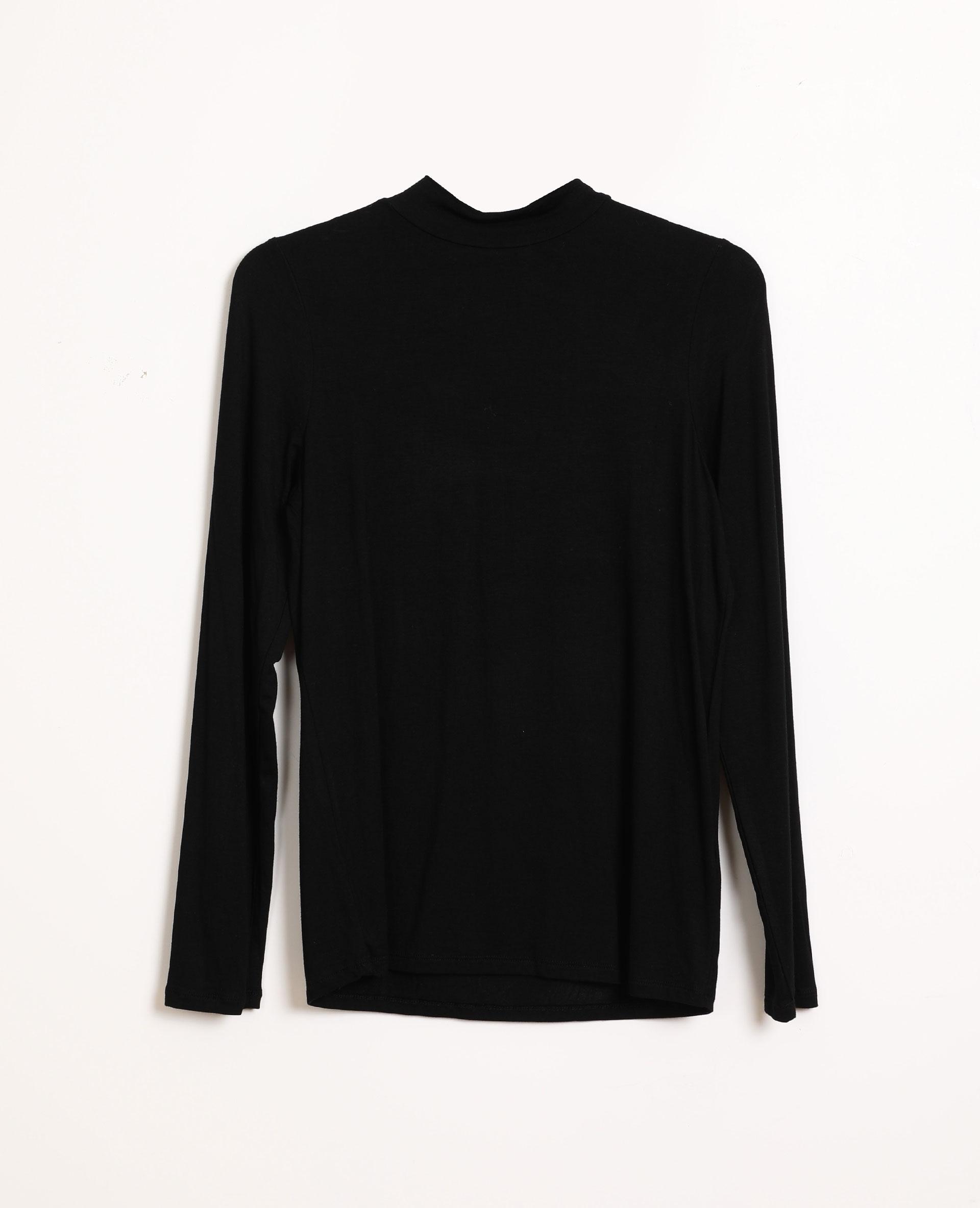 T-shirt à col montant noir - Pimkie