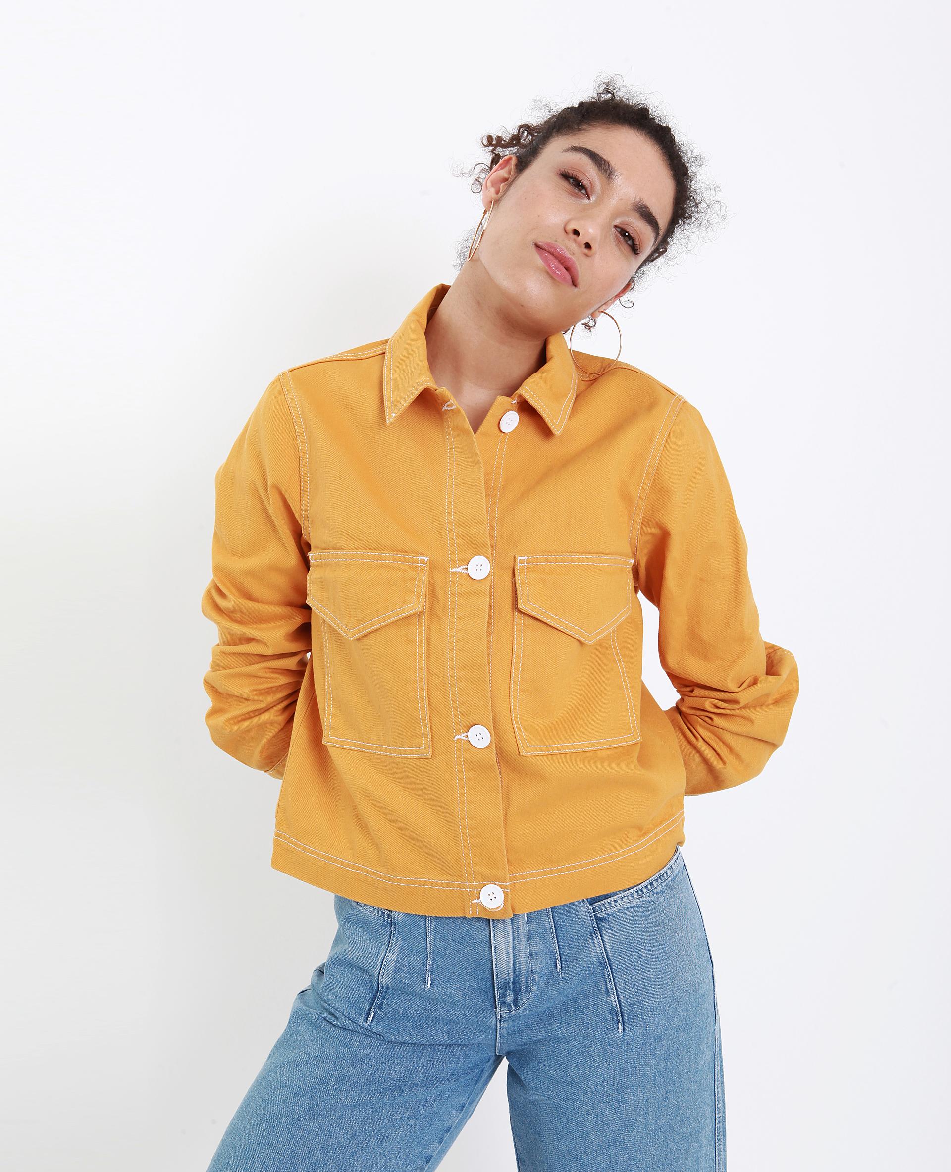 Veste droite jaune - Pimkie