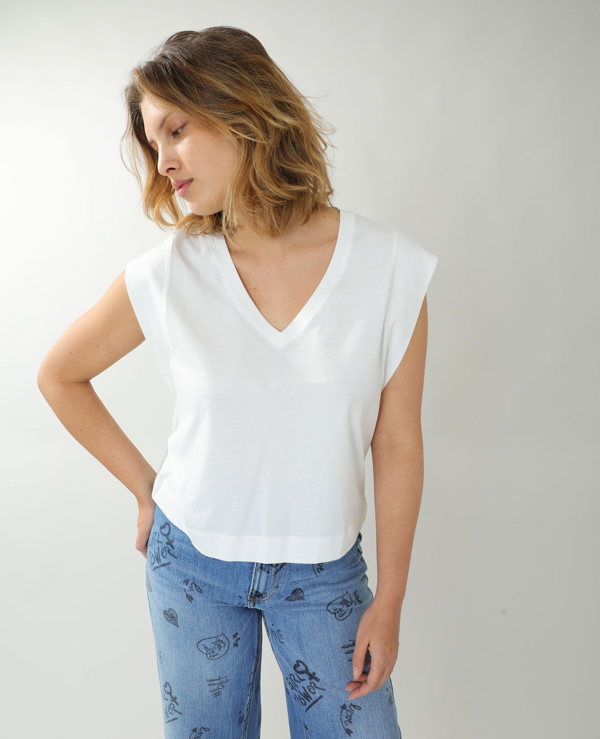T-shirt ample blanc - Pimkie