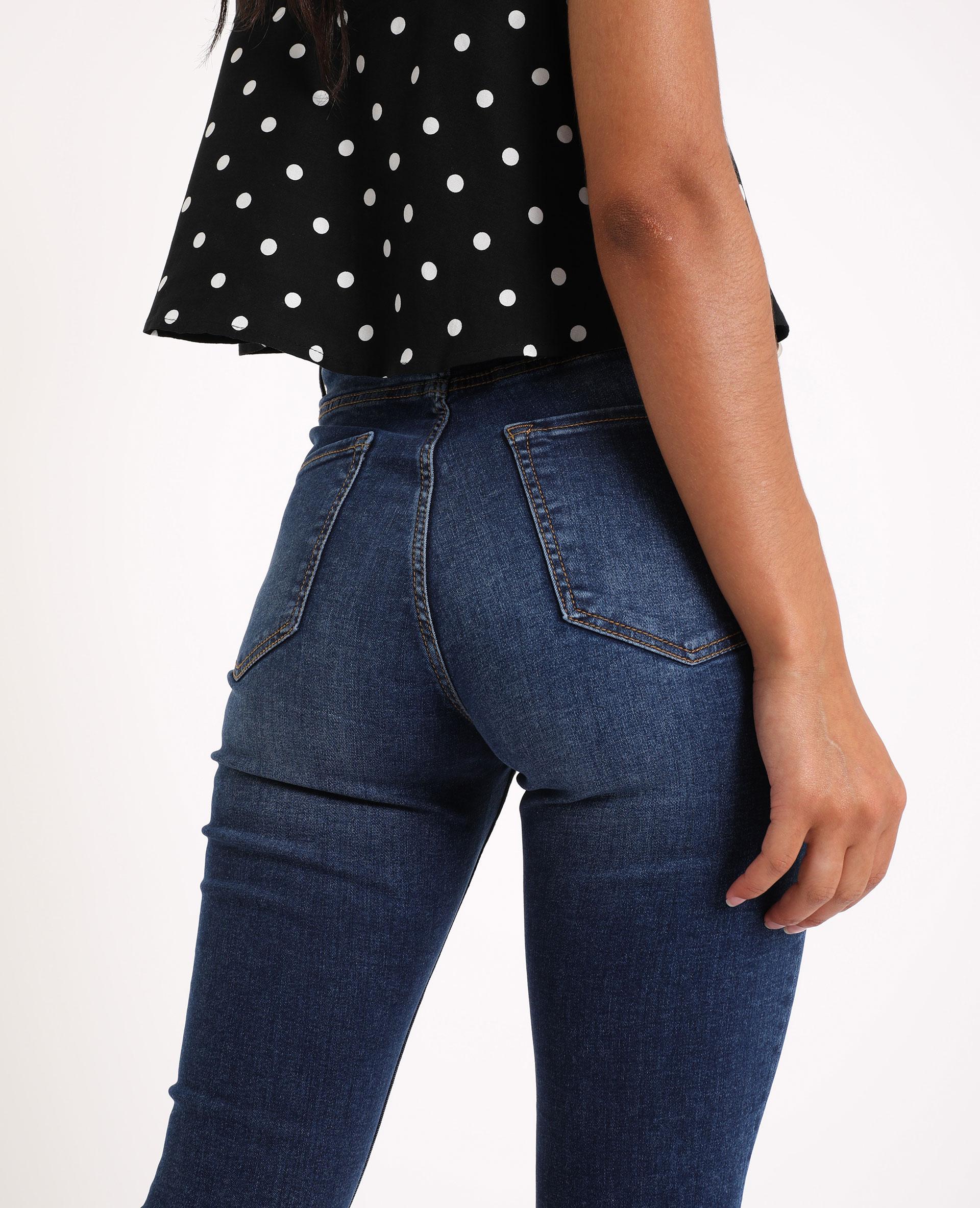 Jean skinny high waist bleu brut - Pimkie