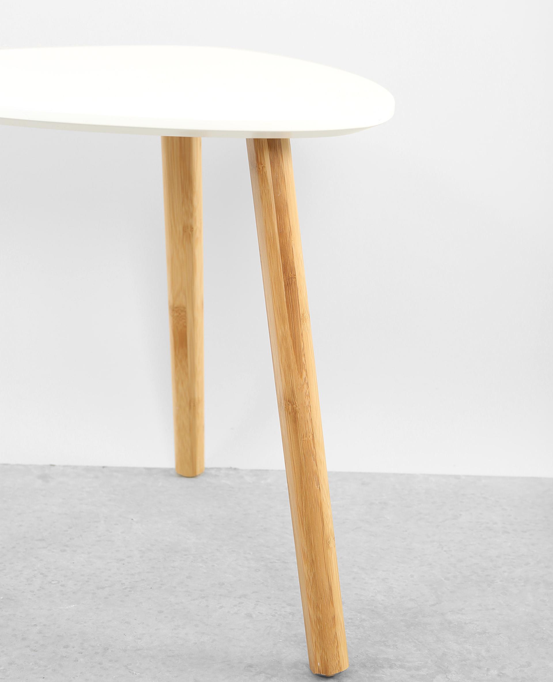 Petite table 3 pieds blanc cassé - Pimkie