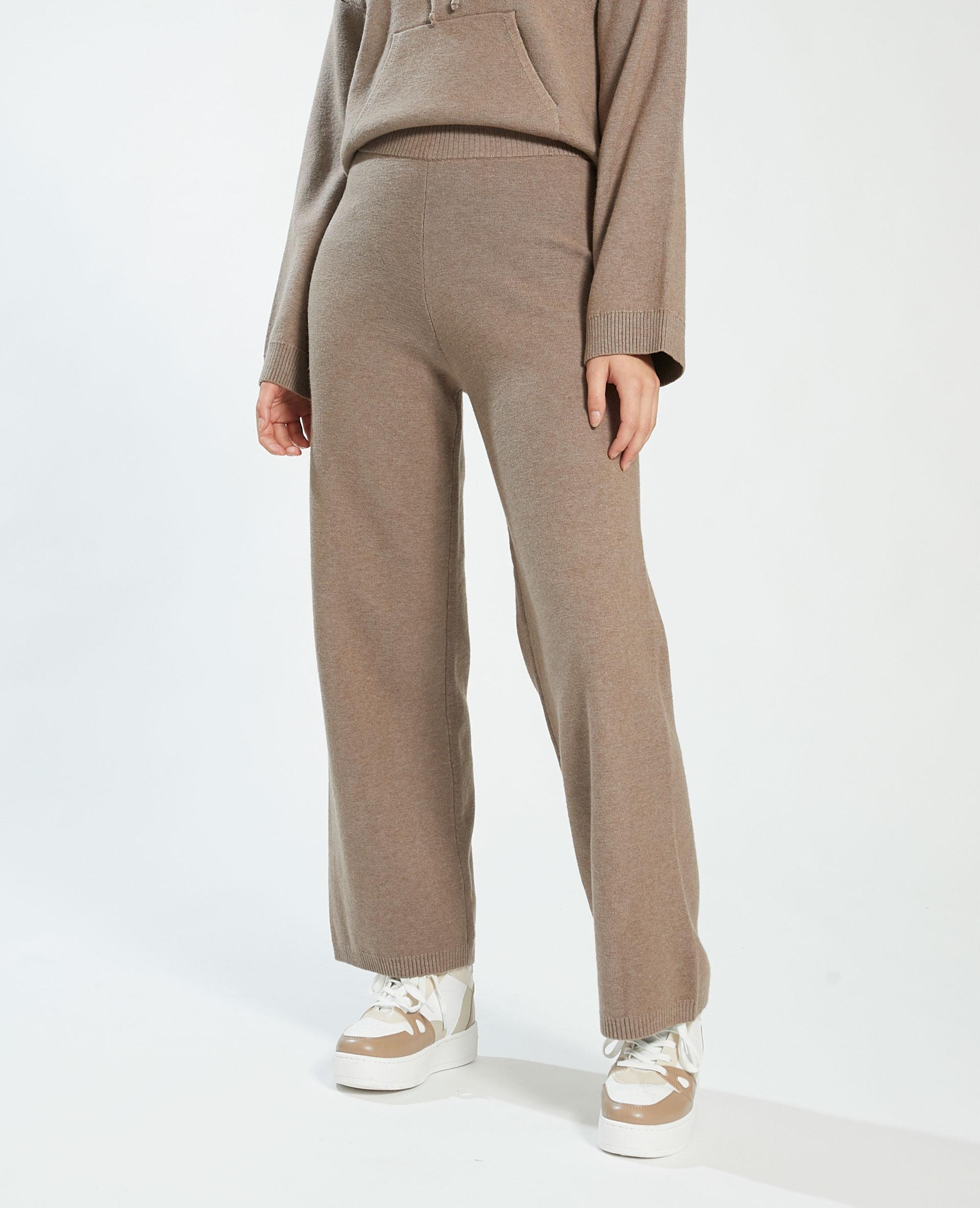 Pantalon wide leg marron - Pimkie