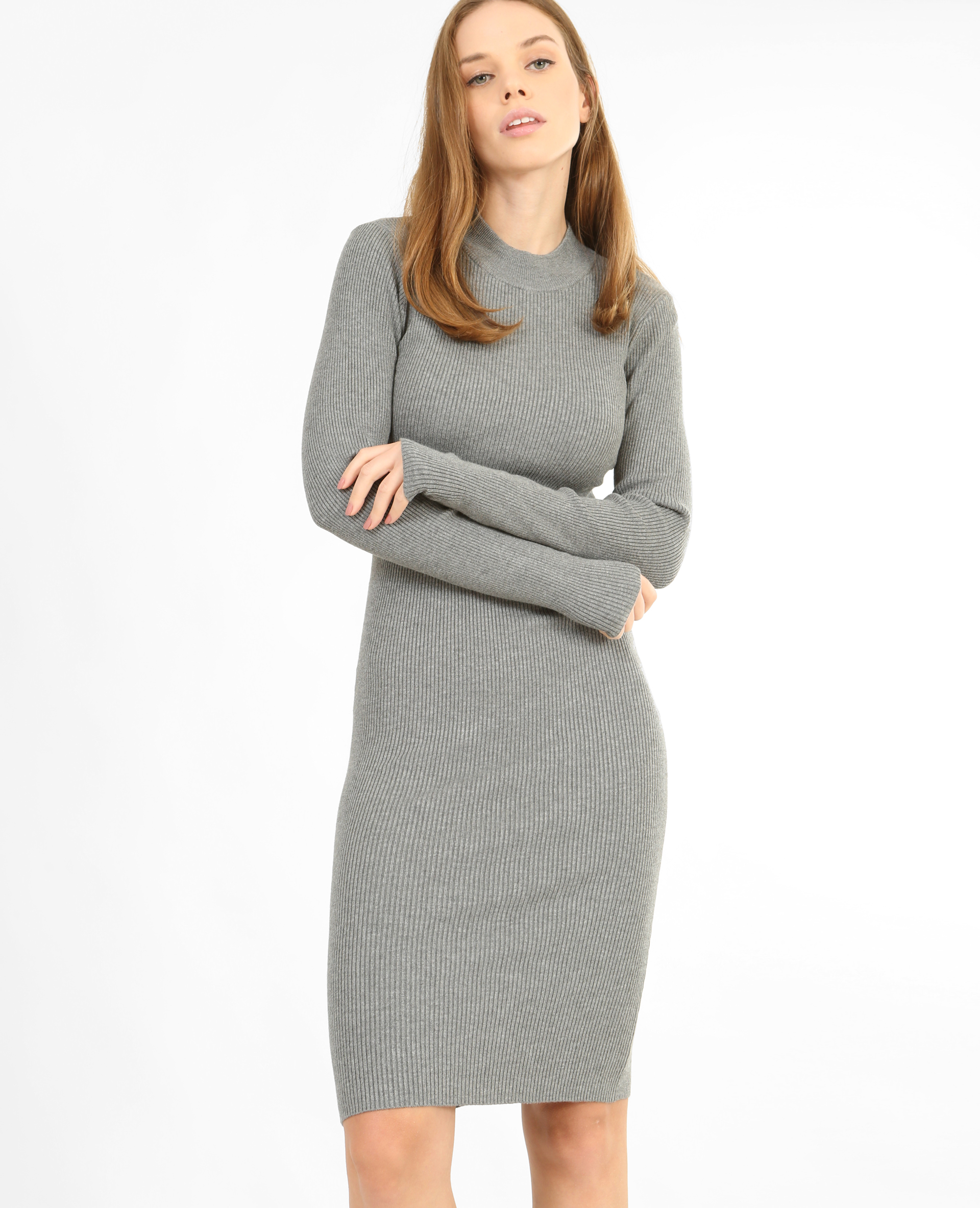 Robe Pull Moulante Gris Chine 780759830a08 Pimkie