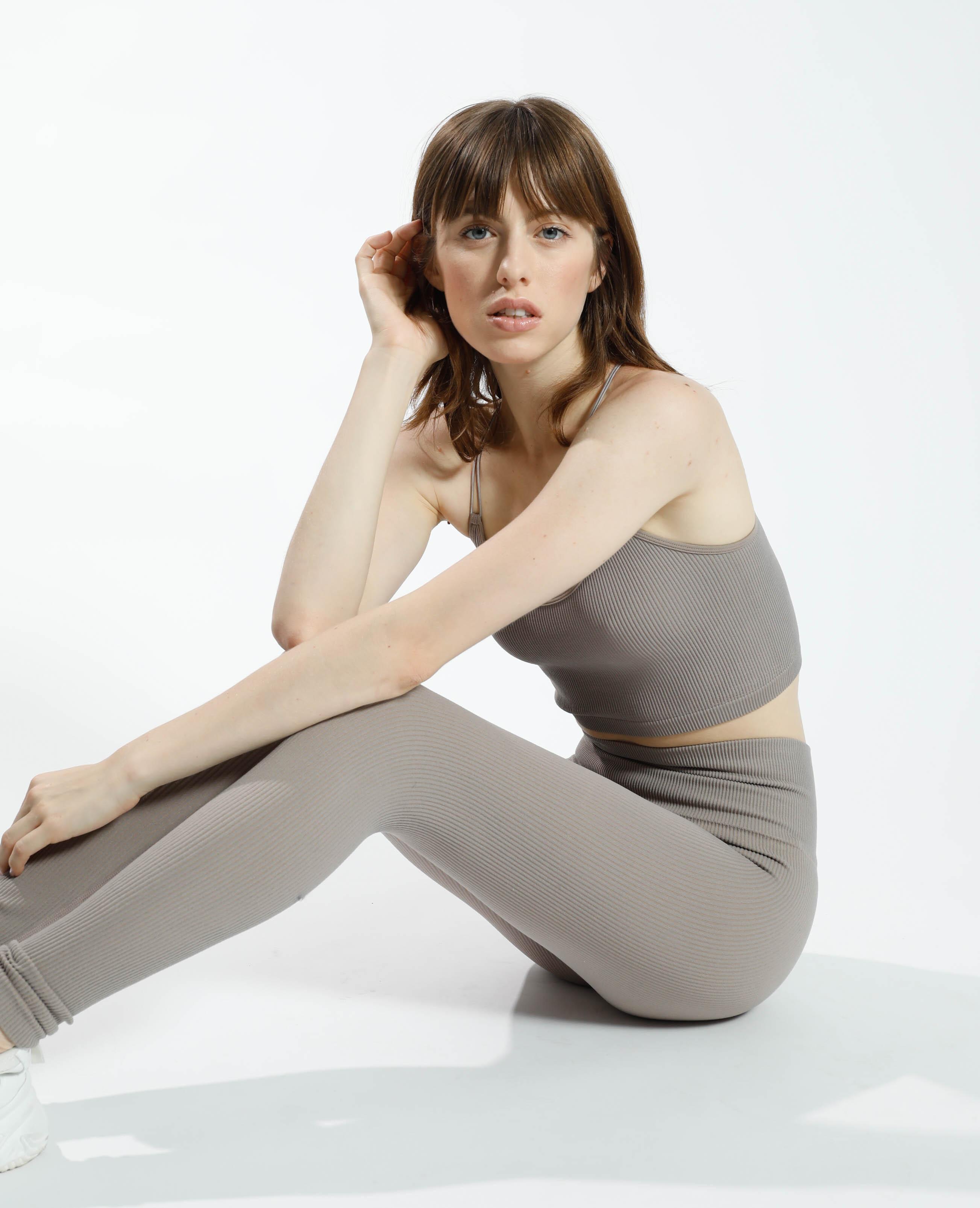Legging sans coutures taupe - Pimkie