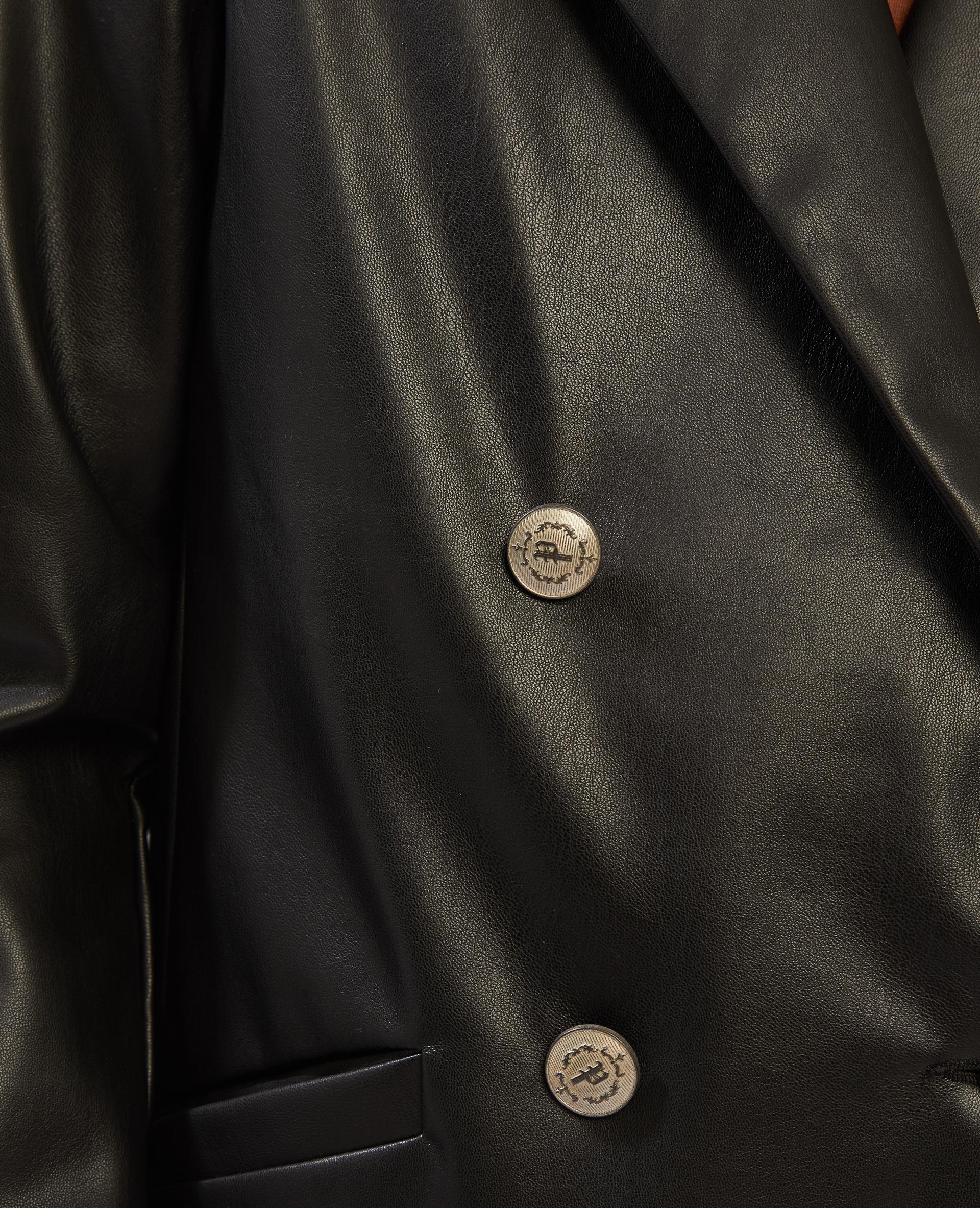 Blazer en simili cuir noir - Pimkie