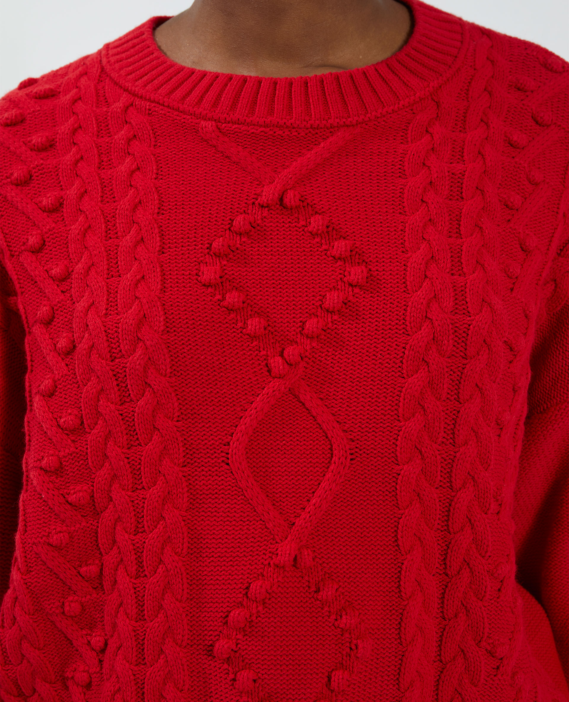 Pull maille fantaisie réglable rouge - Pimkie