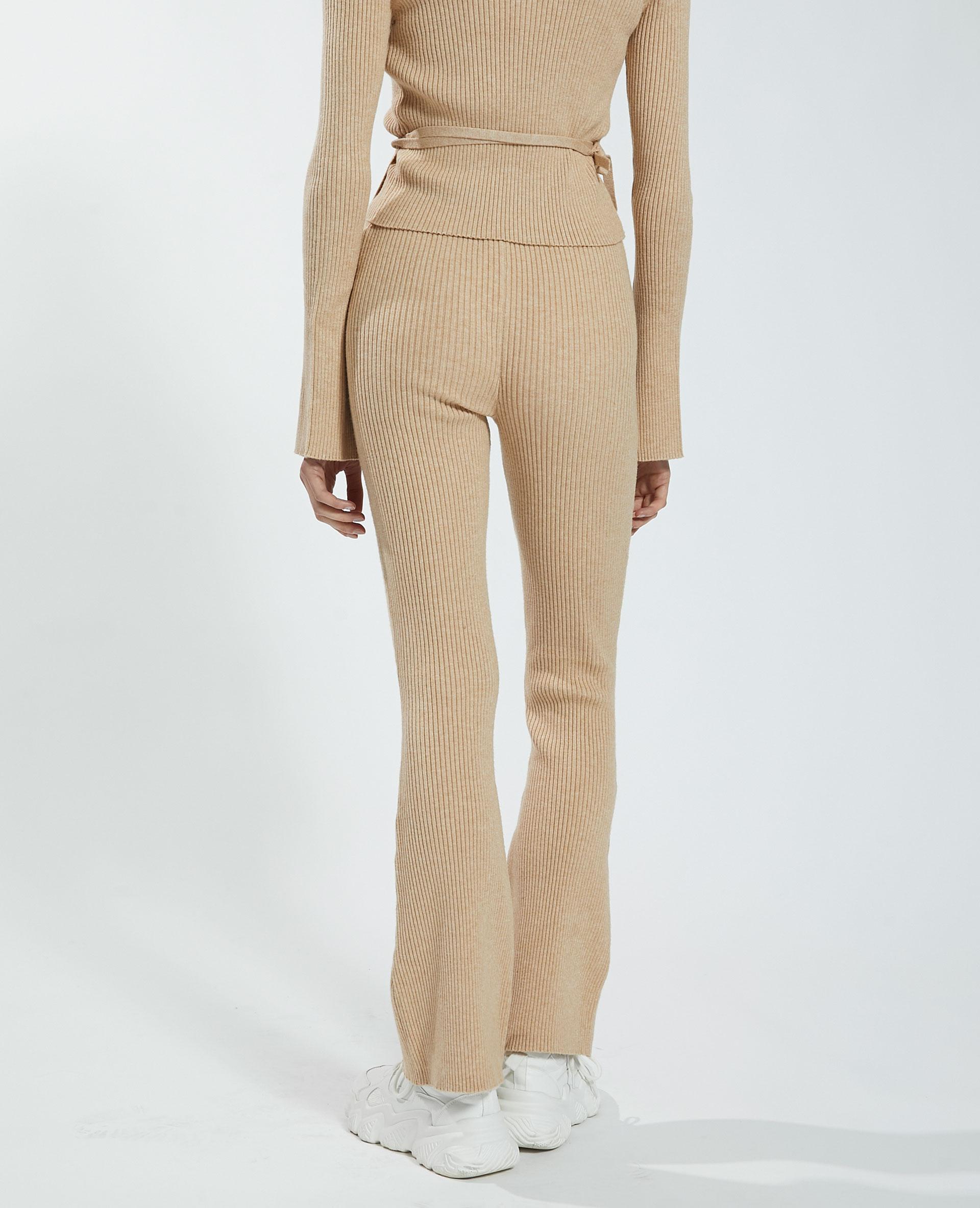Pantalon flare côtelé beige - Pimkie