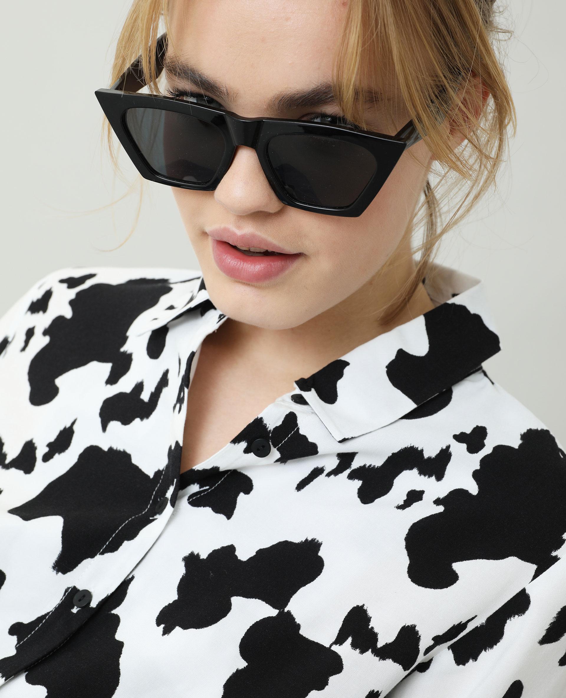 Chemise nouée vache blanc - Pimkie