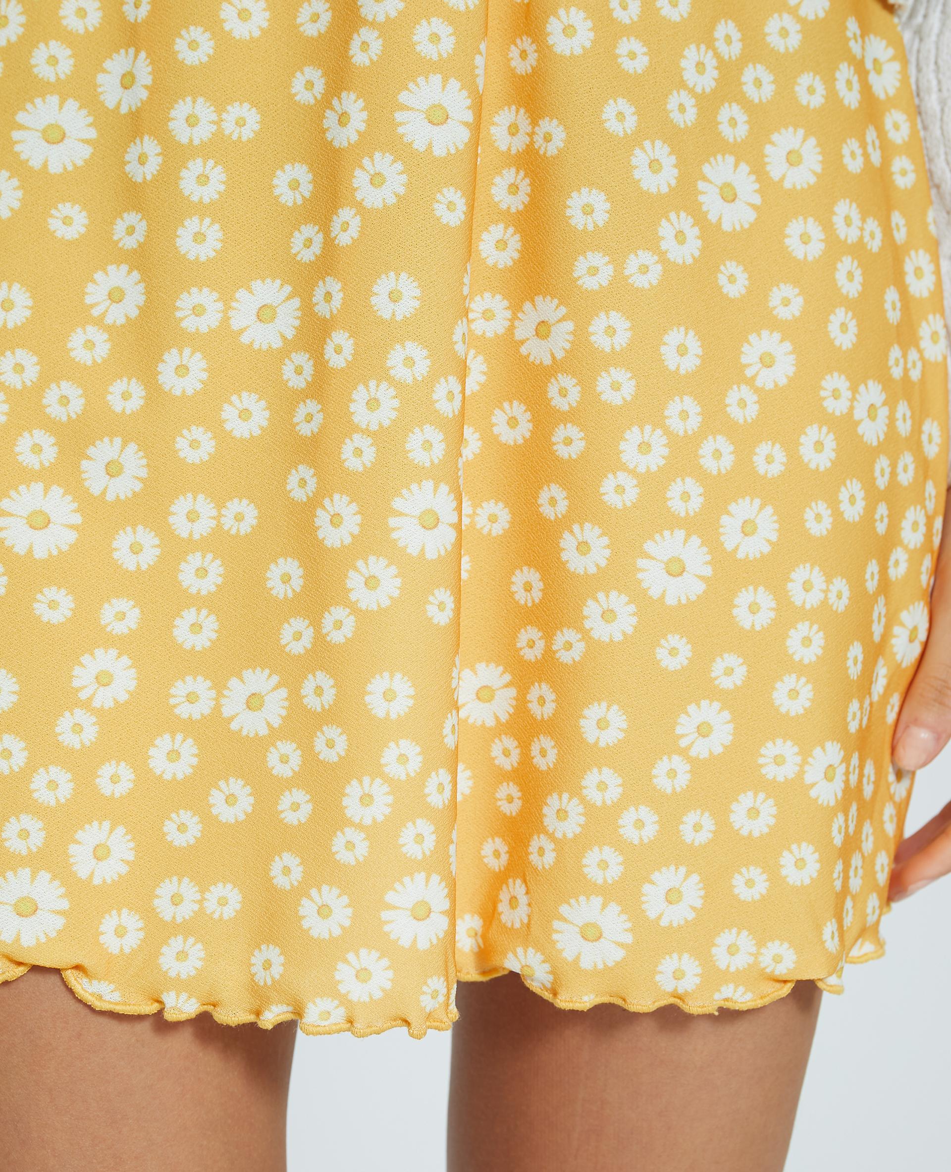 Jupette fleurie jaune - Pimkie