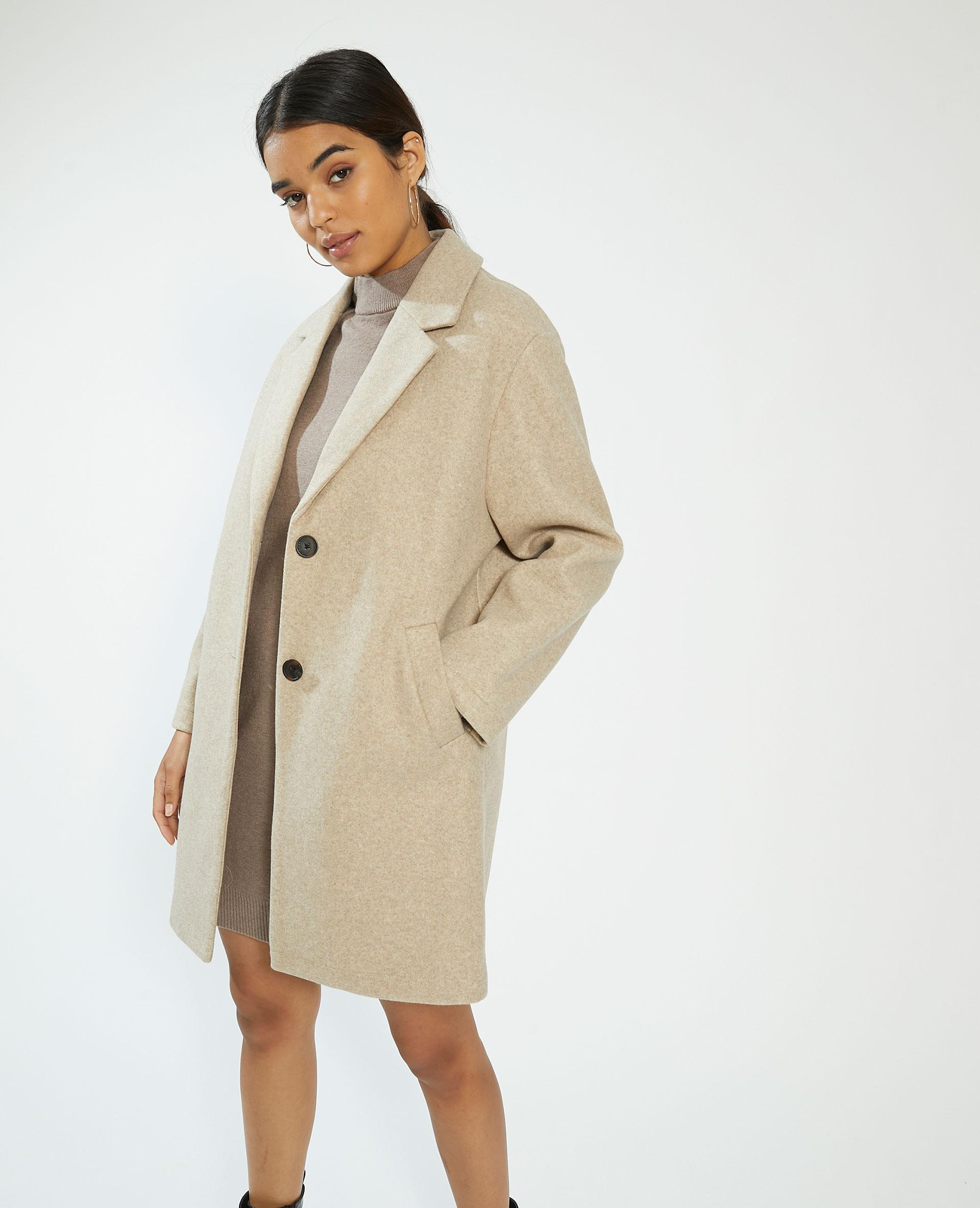 Manteau long beige - Pimkie