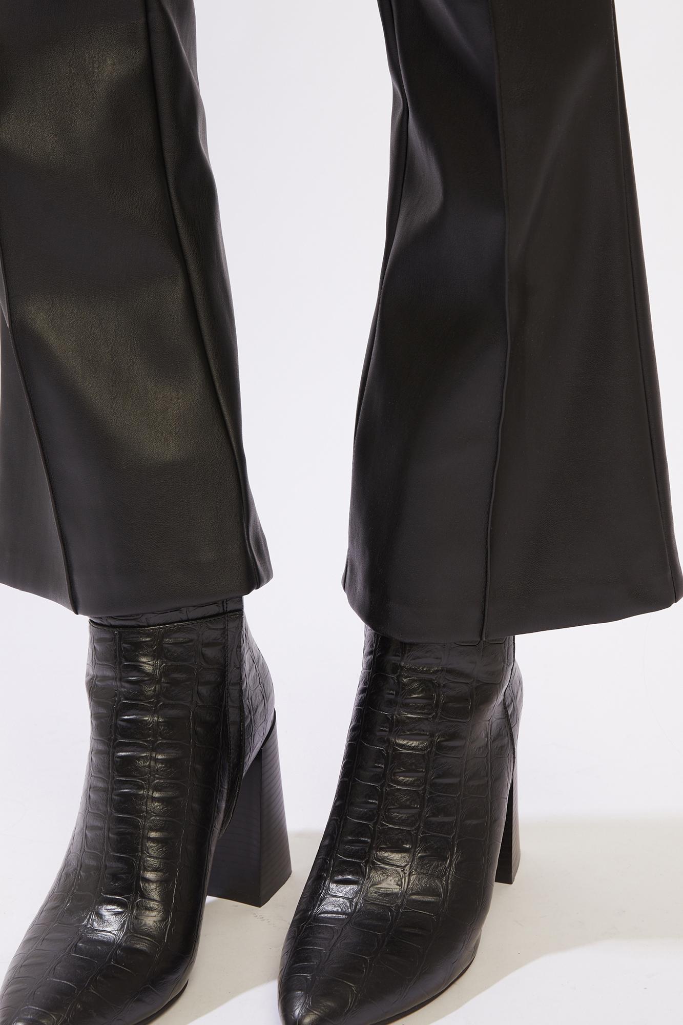 Pantalon flare crop noir - Pimkie