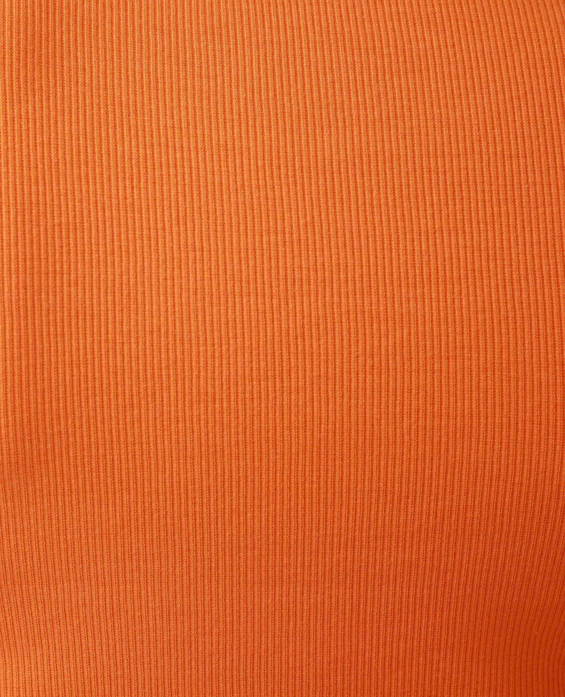 T-shirt roulotté orange - Pimkie