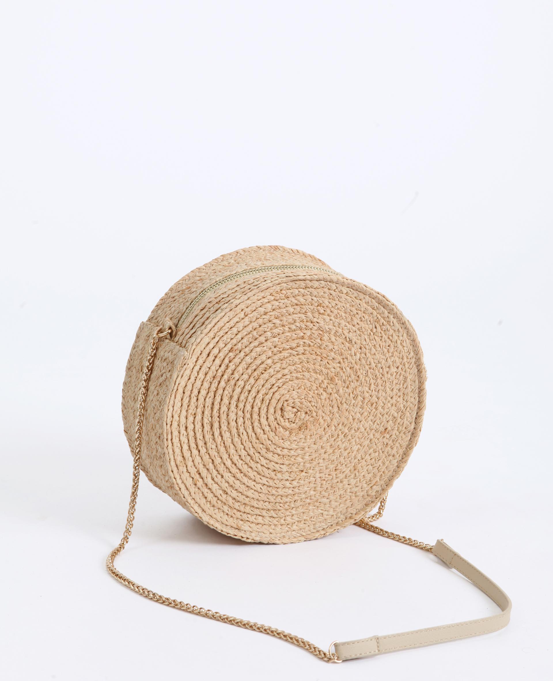 sac rond en paille marron 916957721a01 pimkie. Black Bedroom Furniture Sets. Home Design Ideas