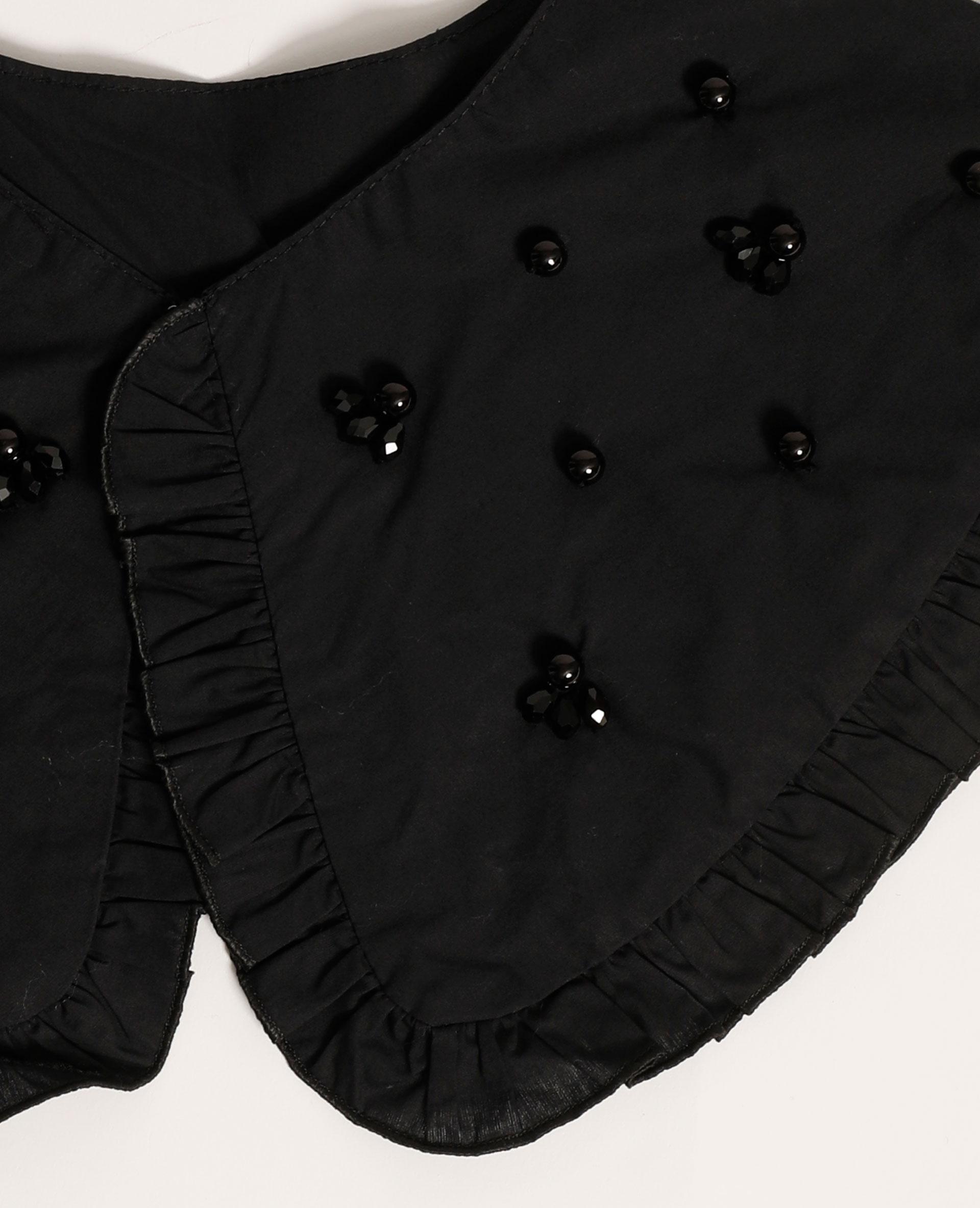 Maxi col avec perles noir - Pimkie