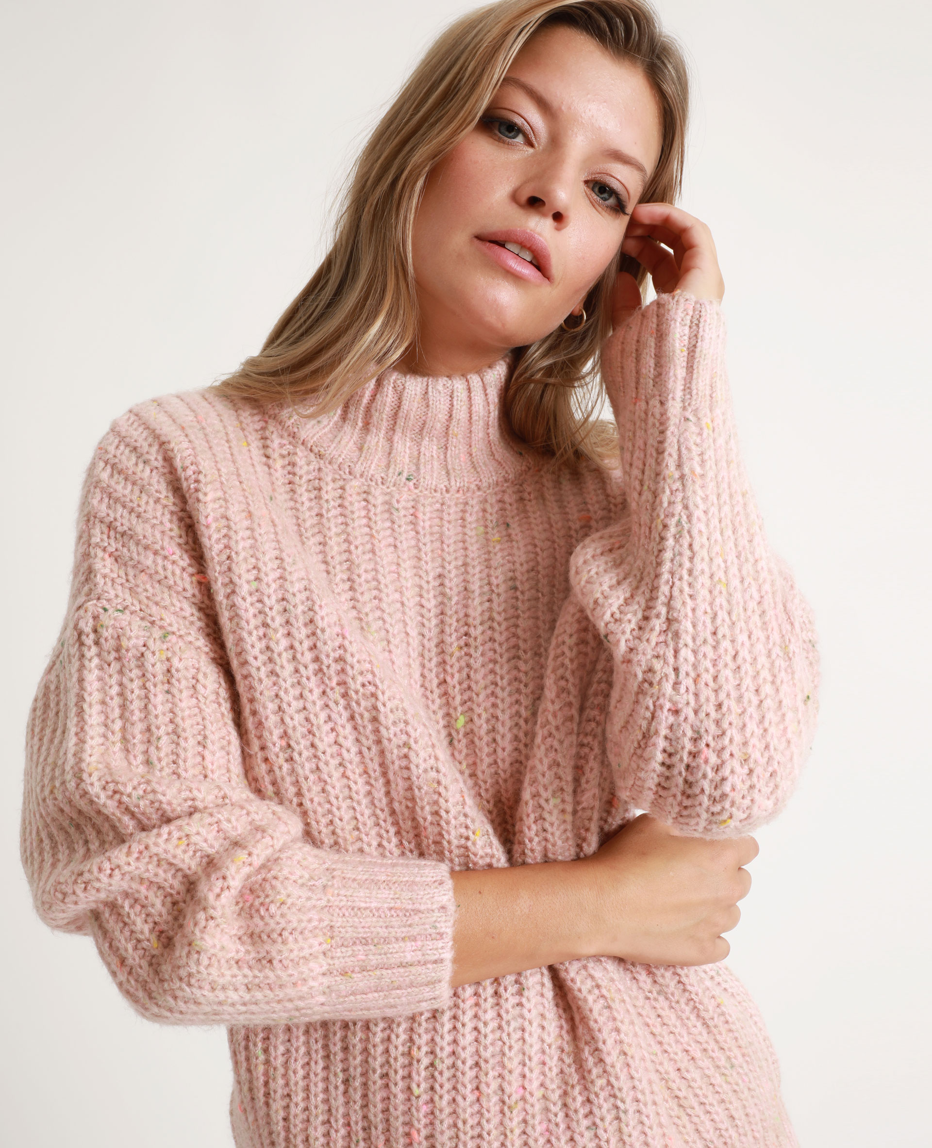 Pull chiné rose - Pimkie