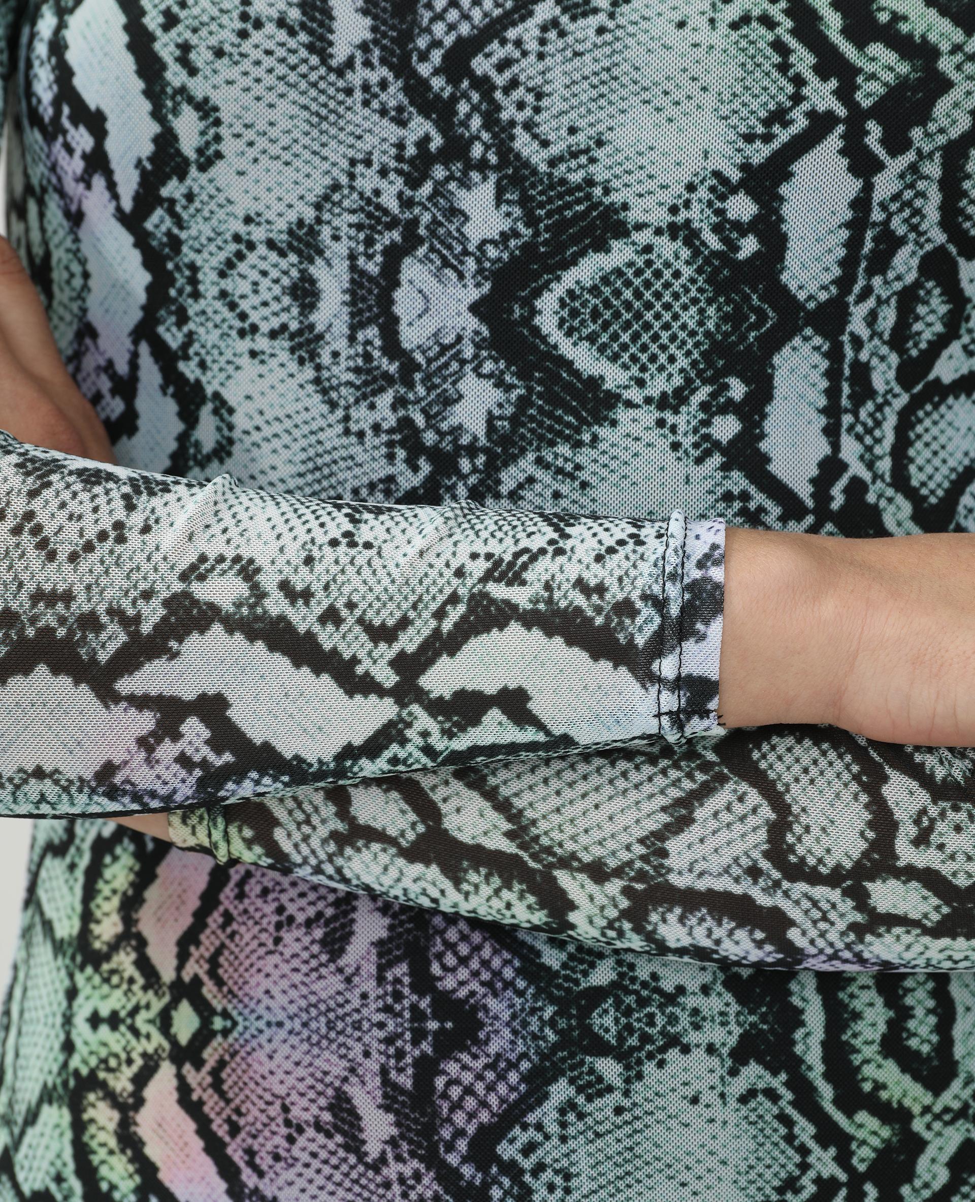 Robe et chauffe épaule motif python bleu - Pimkie