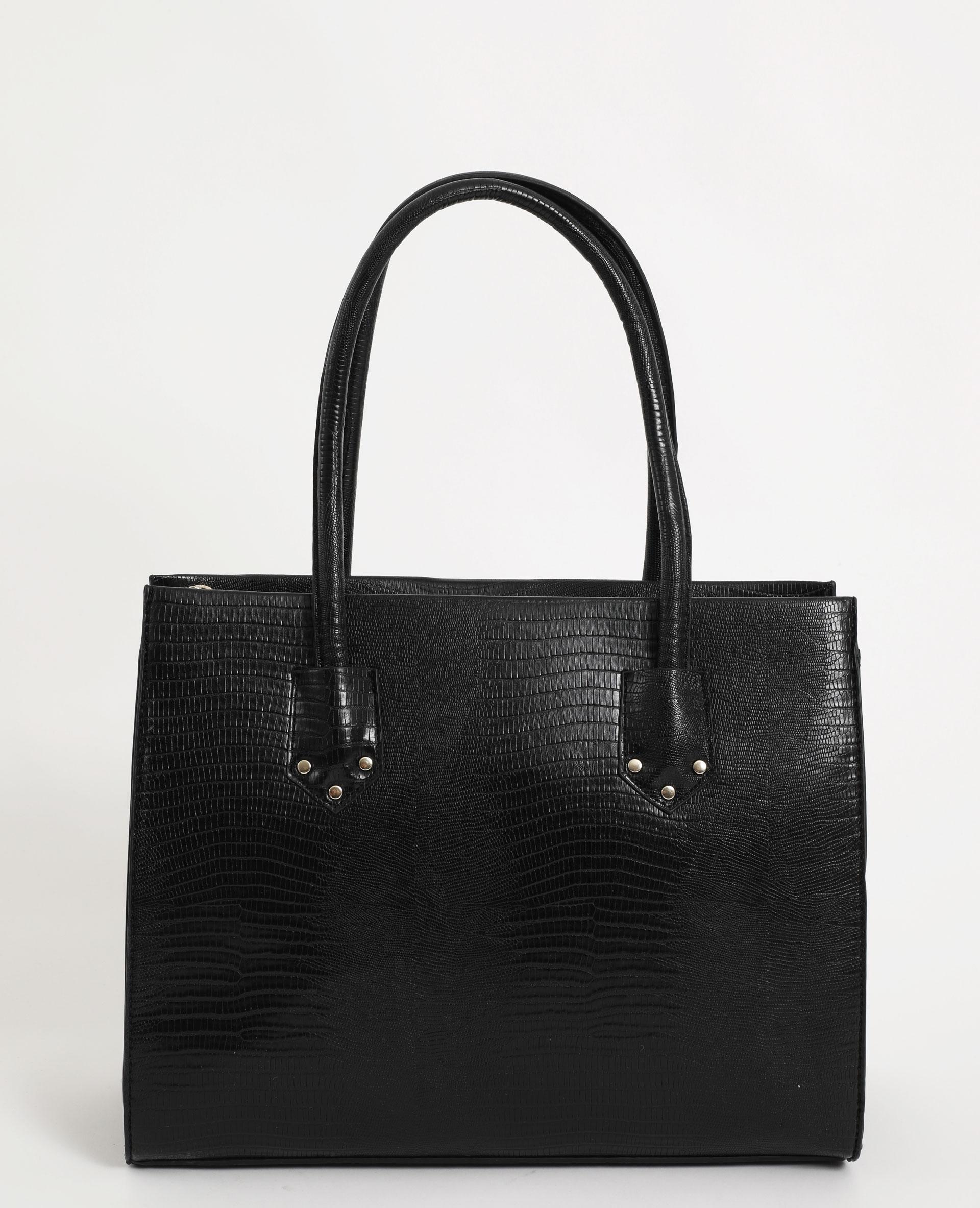 Grand sac rigide noir - Pimkie