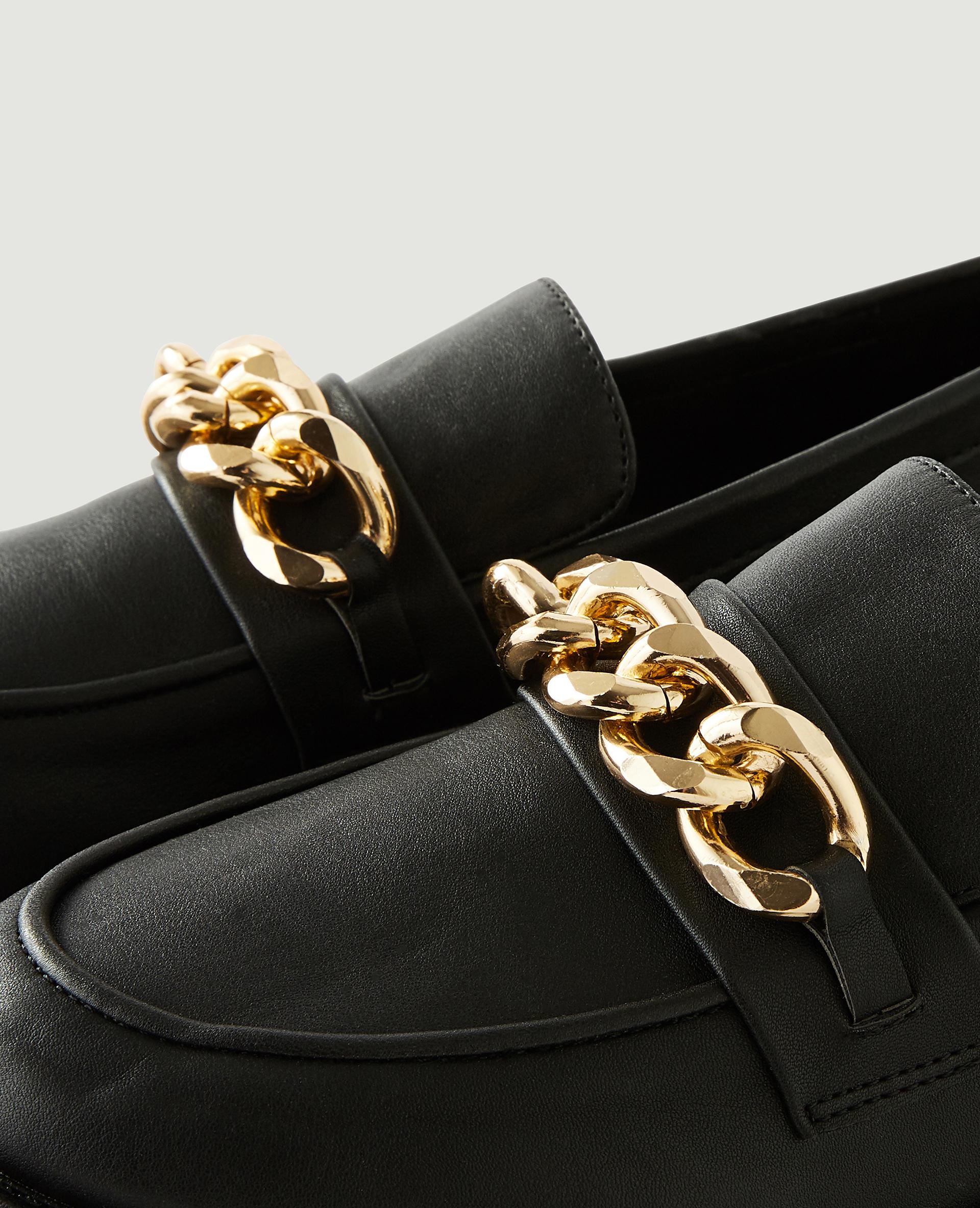 Mocassins en simili cuir noir - Pimkie