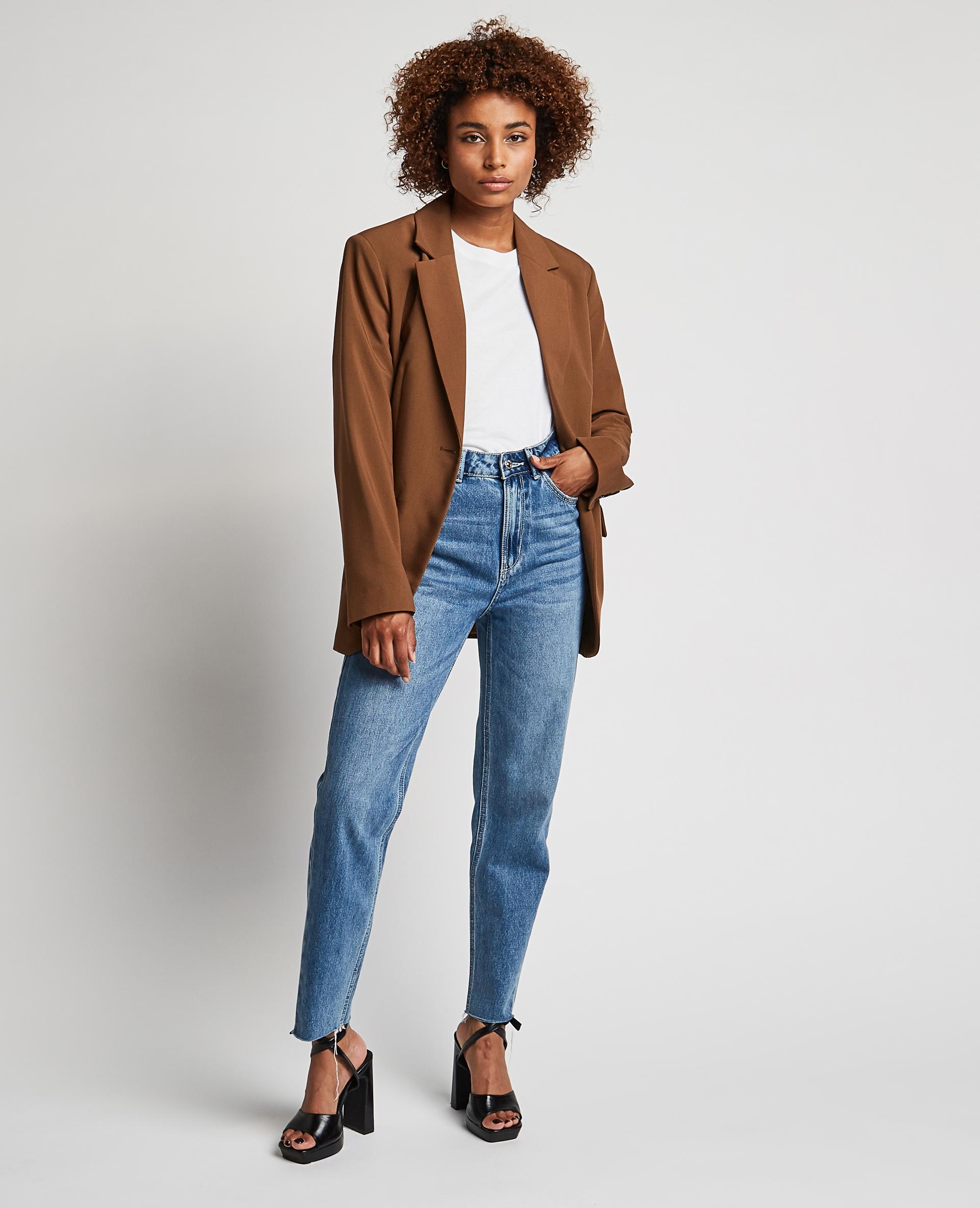 Jean straight taille haute bleu denim - Pimkie