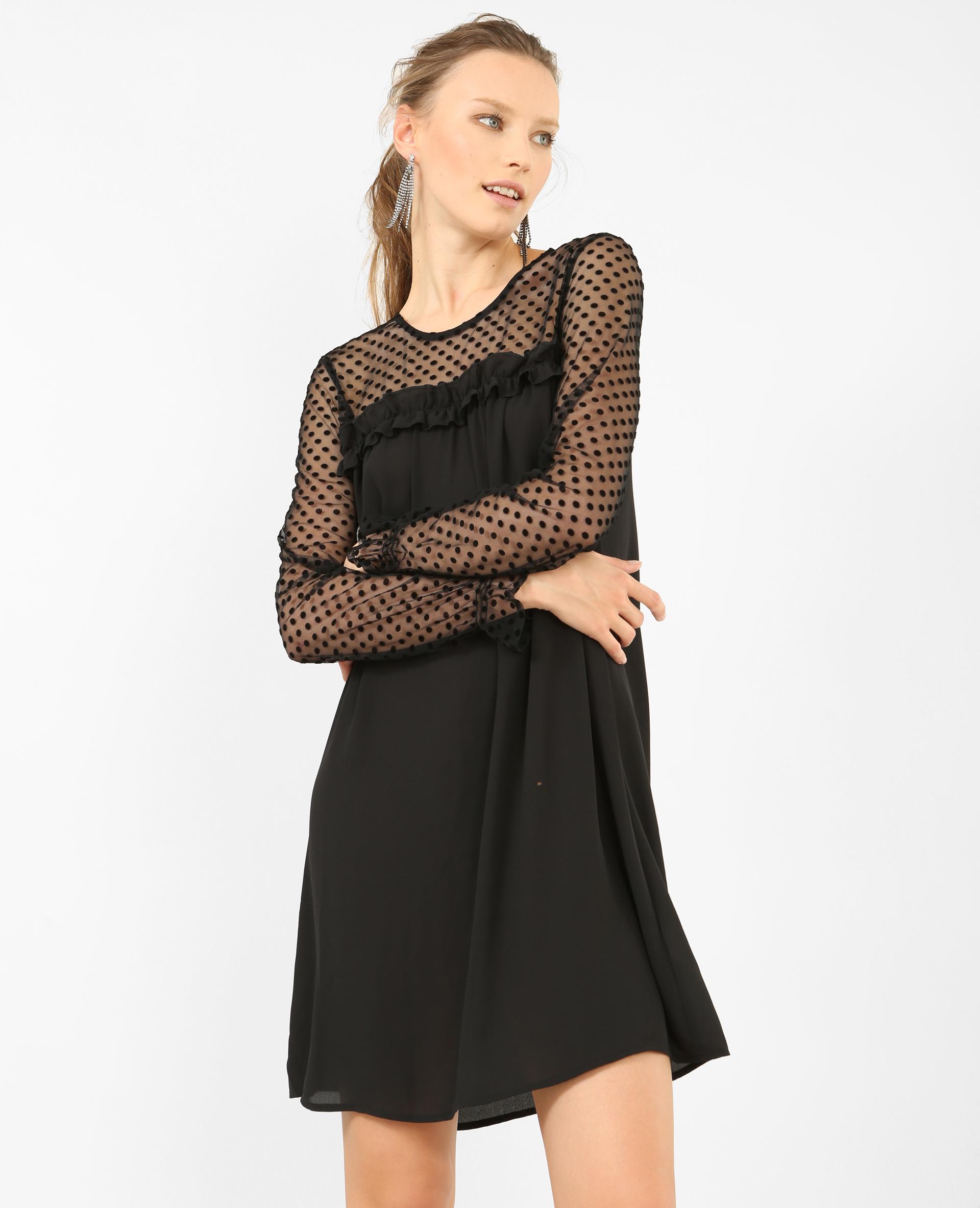 robe en plumetis noir 780823899a08 pimkie. Black Bedroom Furniture Sets. Home Design Ideas