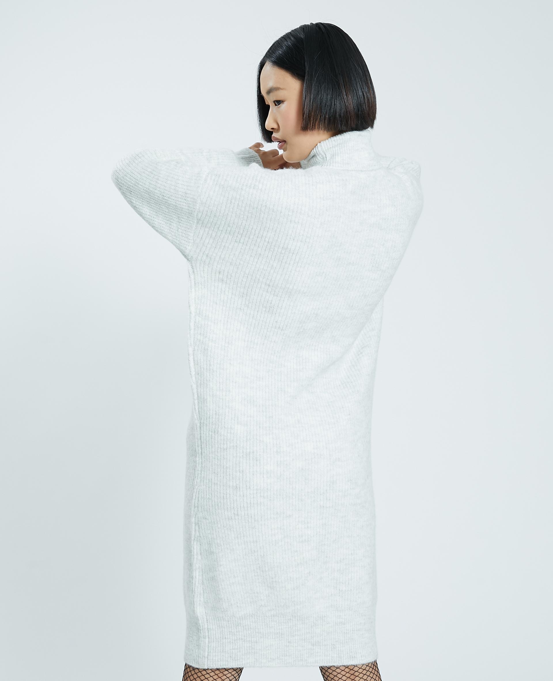 Robe pull col roulé gris clair chiné - Pimkie