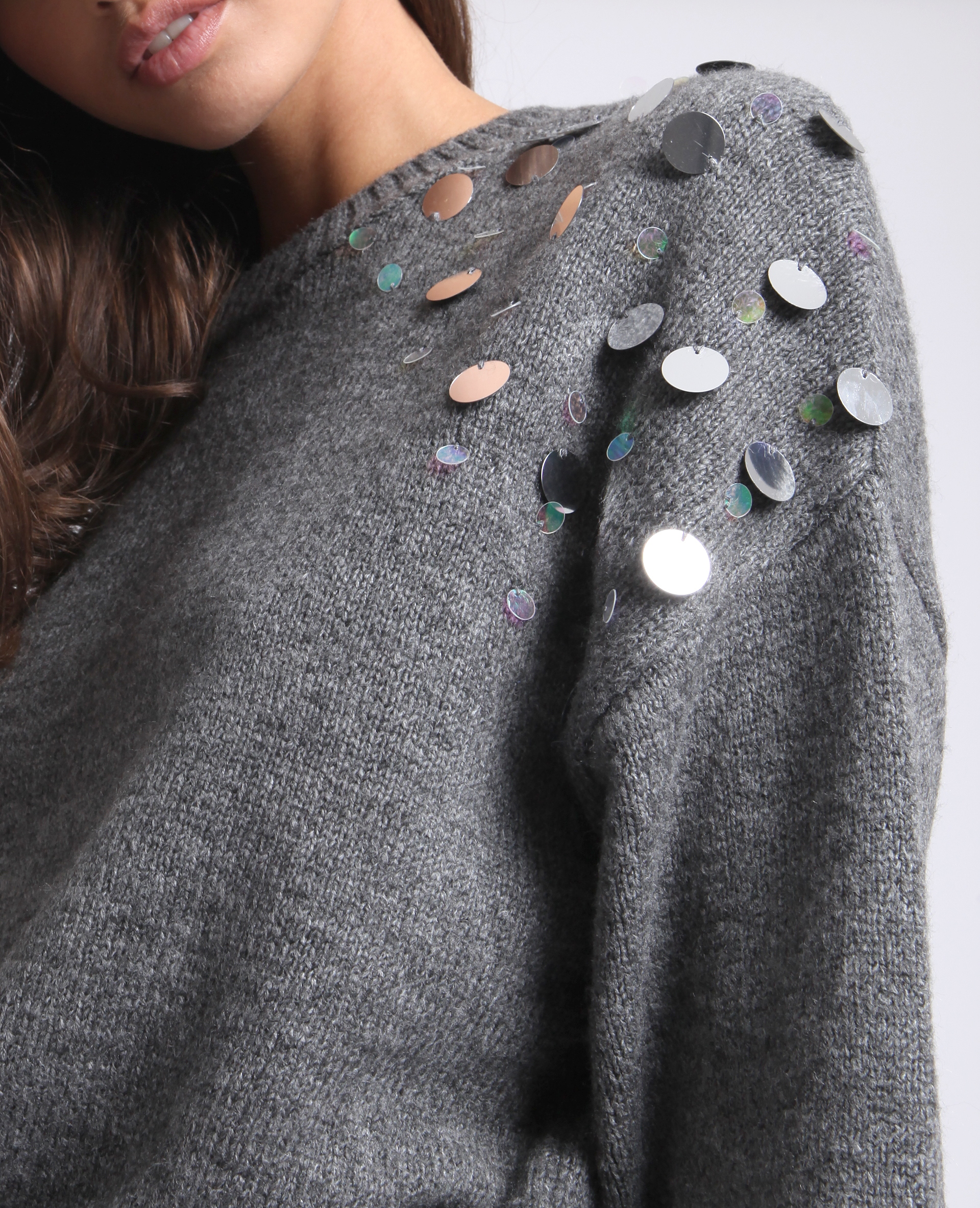 Pull à bijoux gris - Pimkie