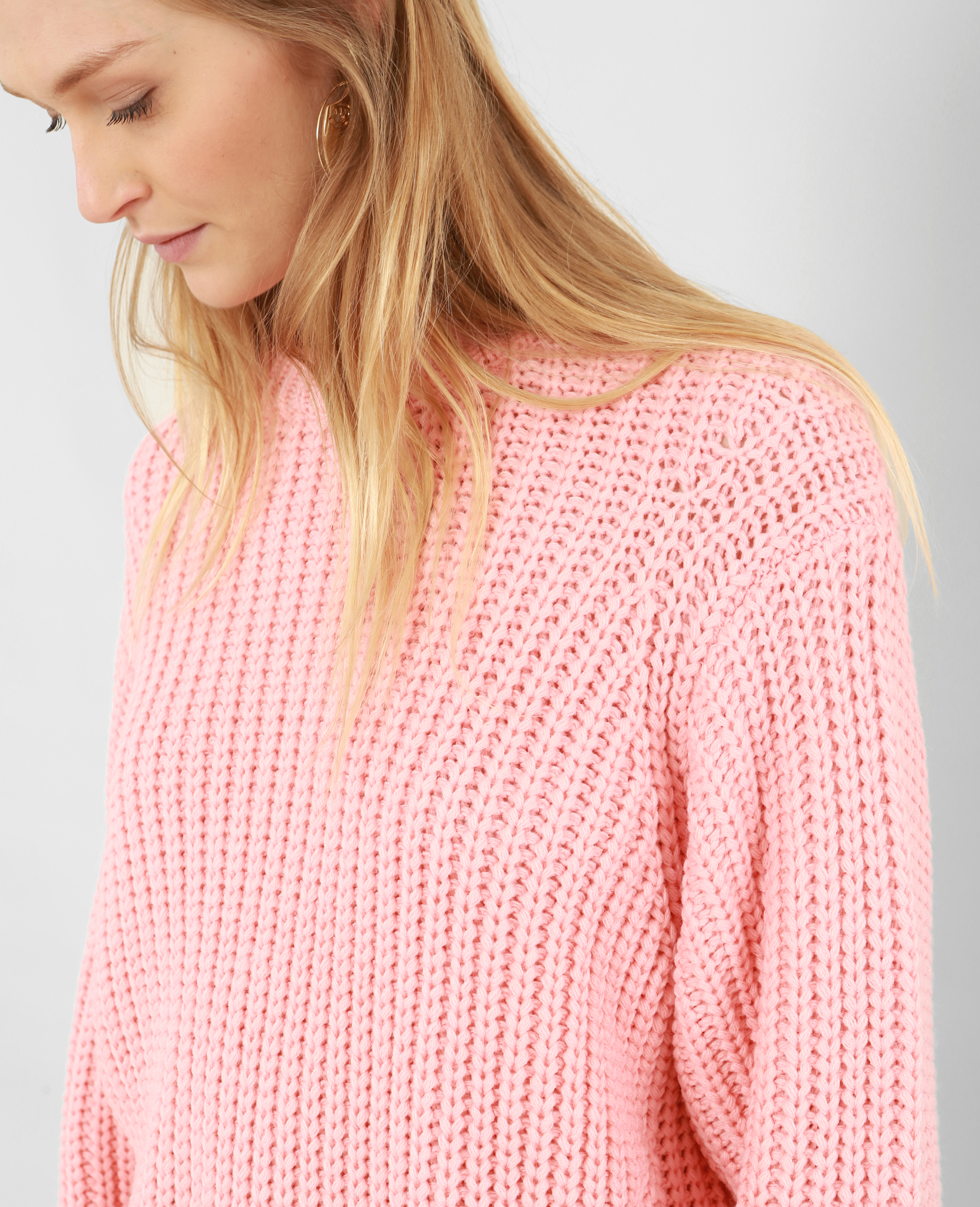c7039fa65 Pull à grosse maille rouge - 403915300A02   Pimkie