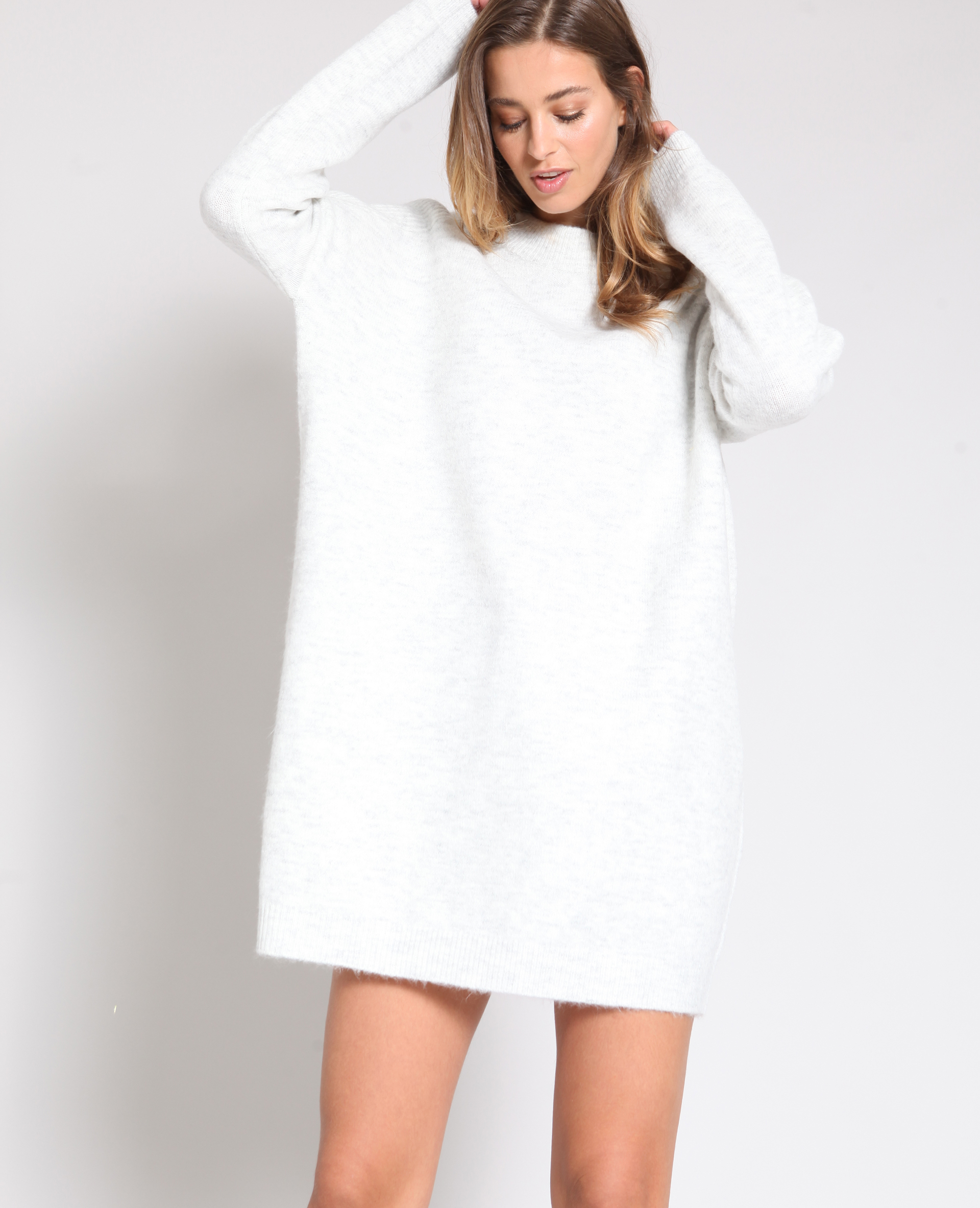 Robe pull gris chiné - Pimkie