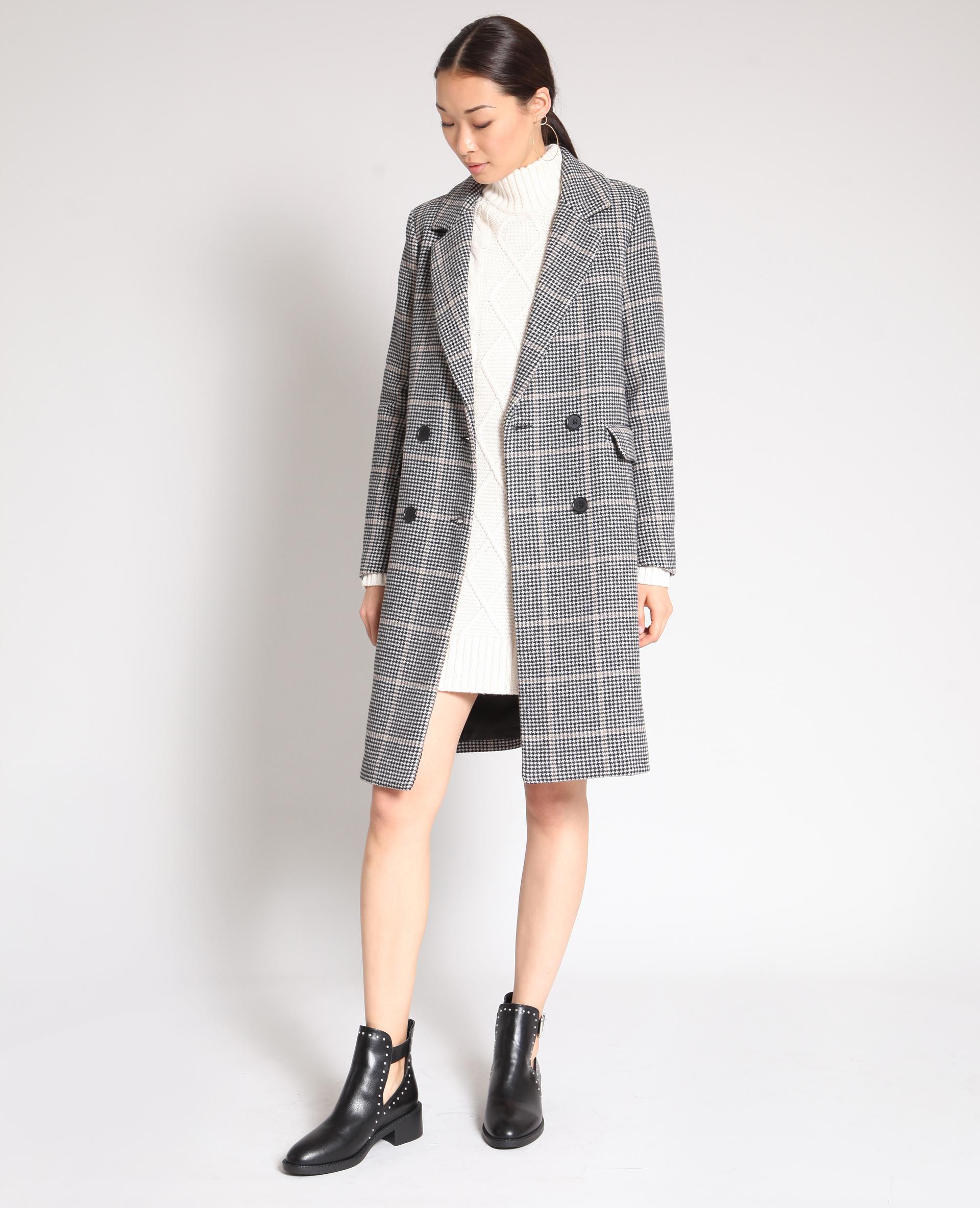 Robe pull torsadée blanc cassé - Pimkie