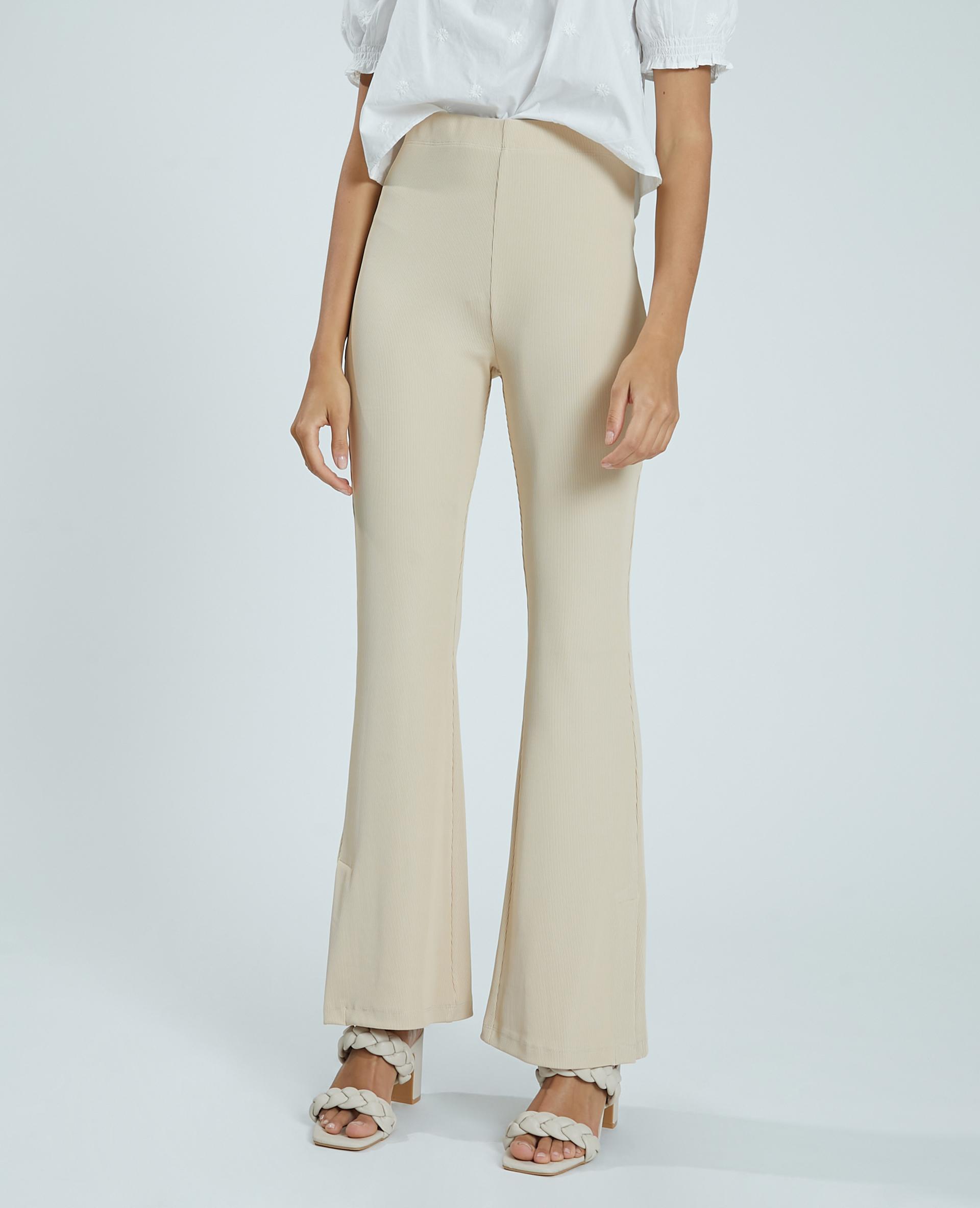 Pantalon flare beige - Pimkie