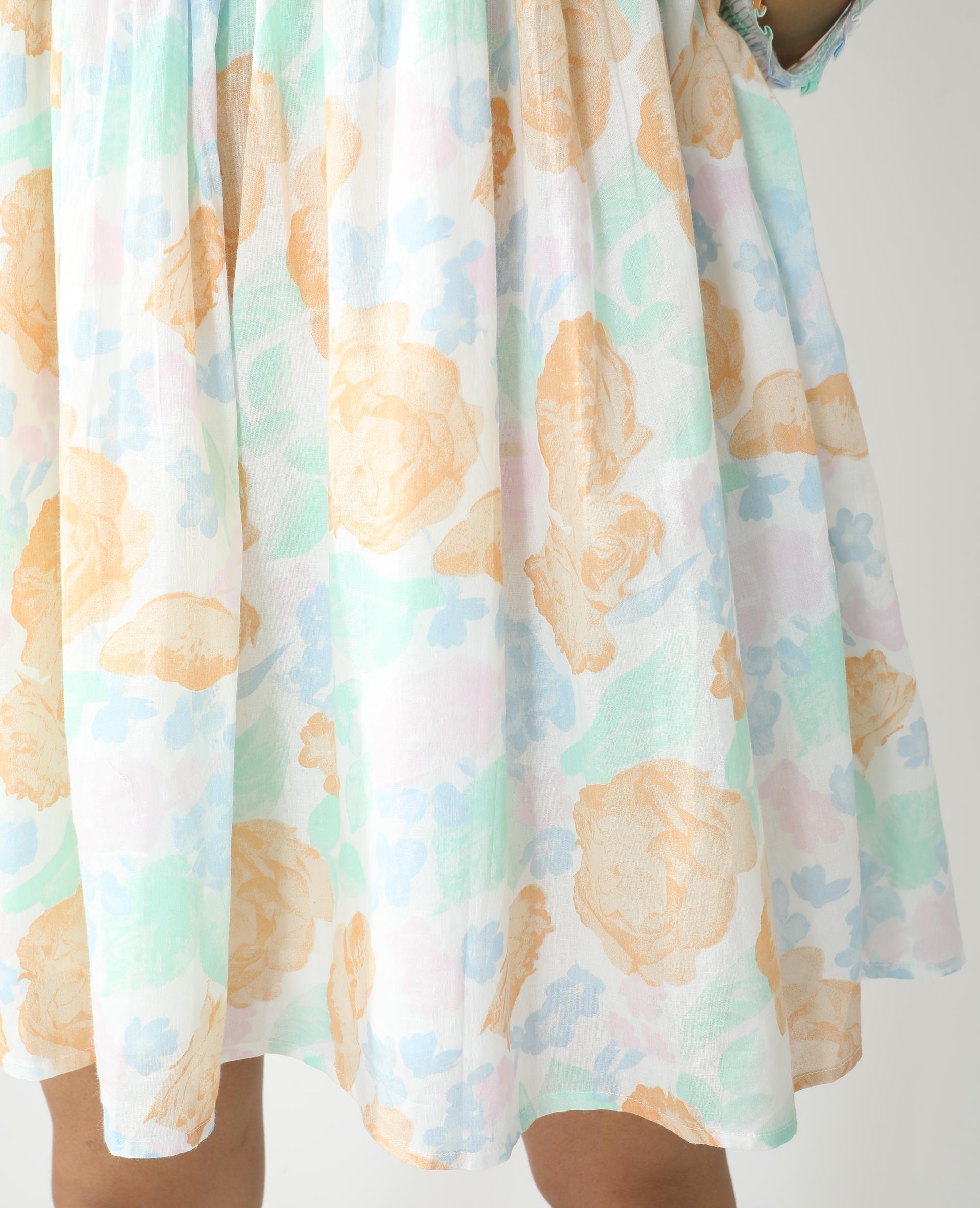 Robe fleurie blanc - Pimkie