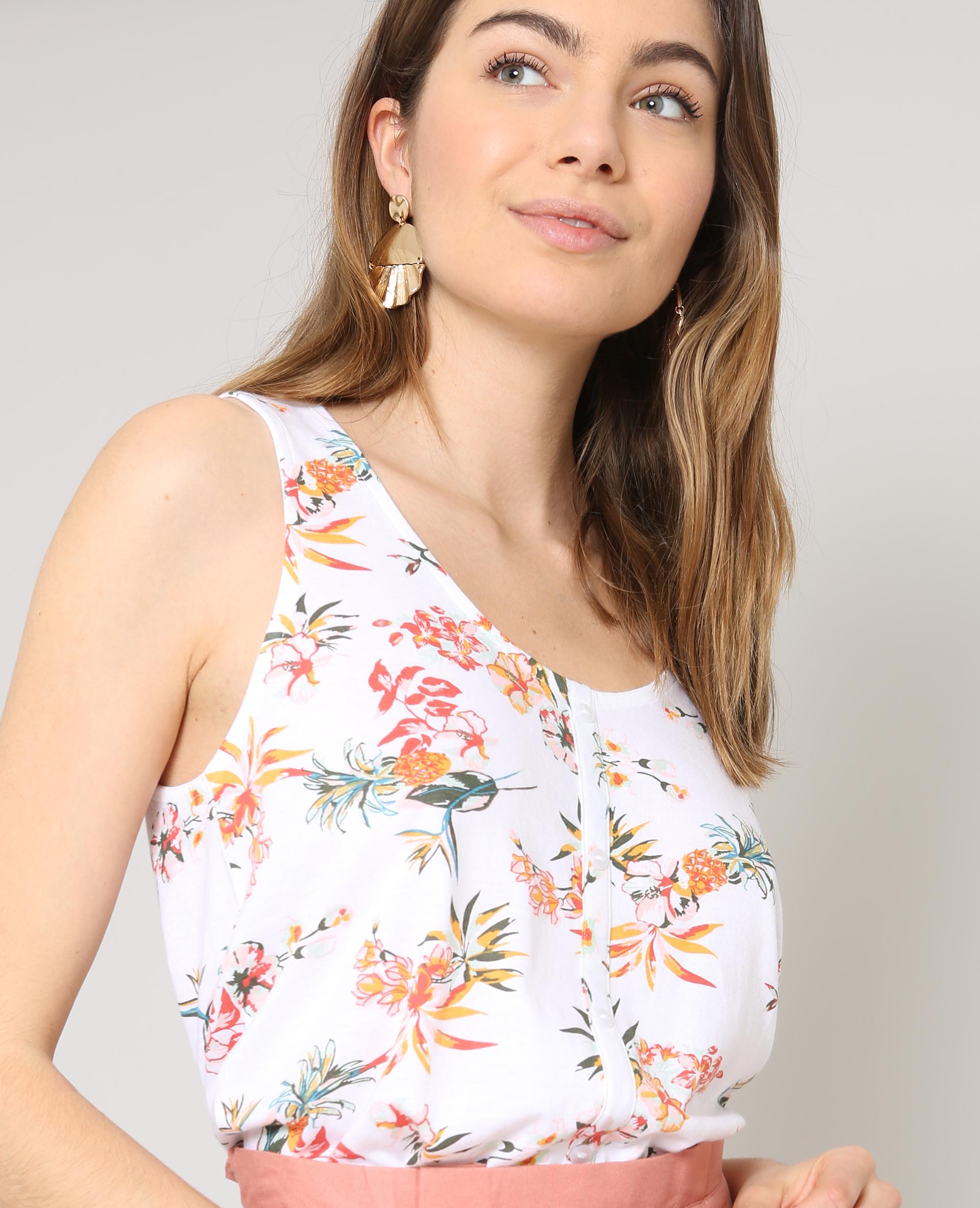 Top fleuri blanc - 403385905I0A   Pimkie 341a95492863
